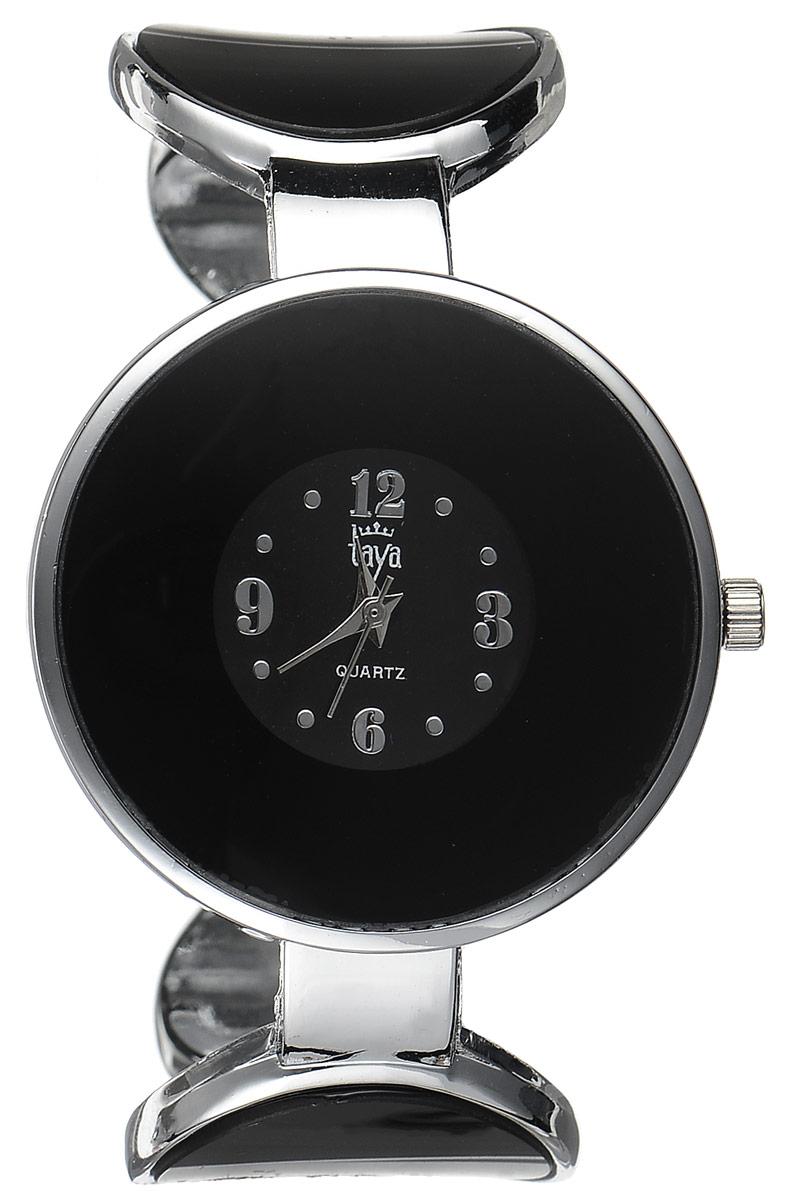 Часы наручные женские Taya, цвет: серебристый, черный. T-W-0453BM8434-58AEСтильные женские часы Taya выполнены из минерального стекла и нержавеющей стали. Циферблат часов украшен символикой бренда.Корпус часов оснащен кварцевым механизмом со сменным элементом питания, а также дополнен раздвижным браслетом с пружинным механизмом, который позволяет надеть часы на любую руку.Часы поставляются в фирменной упаковке.Часы Taya подчеркнут изящность женской руки и отменное чувство стиля у их обладательницы.