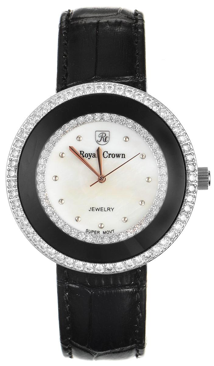 Zakazat.ru: Часы наручные женские Royal Crown, цвет: черный, серебряный. 3776-RDM-1