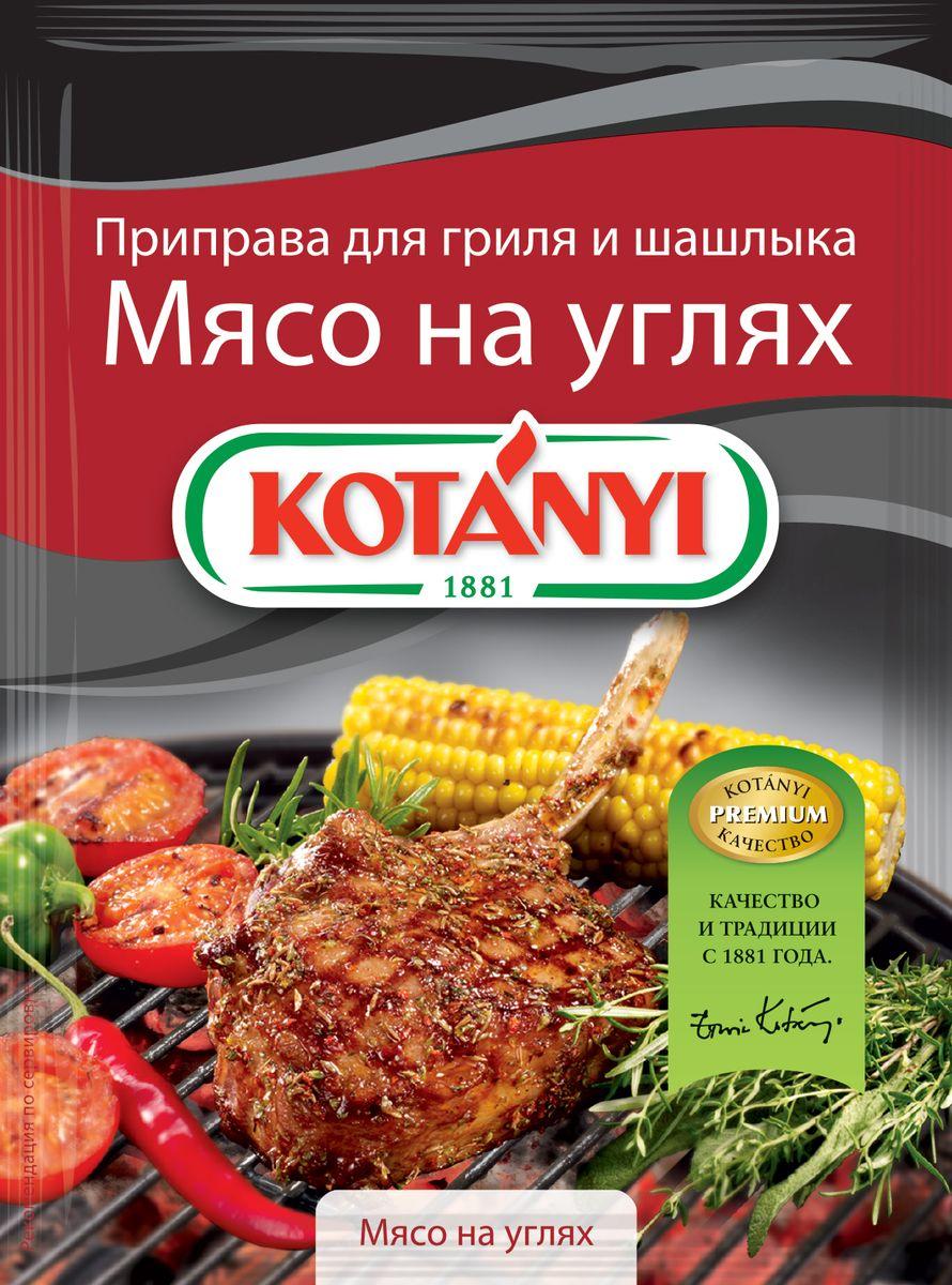 Kotanyi Приправа для гриля и шашлыка Мясо на углях, 30 гNT308Приправа для гриля и шашлыка Kotanyi Мясо на углях - смесь специально отобранных ингредиентов, таких как высококачественная паприка, перец и кориандр, придает мясу вкус и аромат дымка. Просто натрите мясо приправой Kotanyi и маслом и дайте впитаться. Отлично подходит для любого мяса, приготовленного на углях.