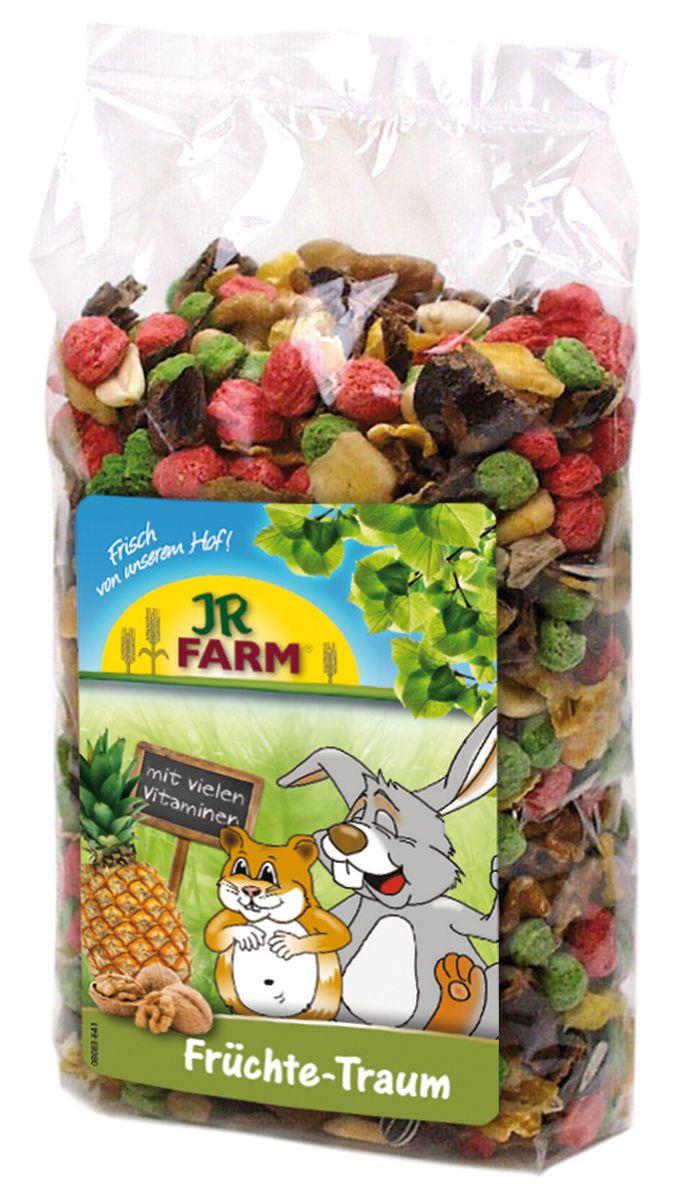 Смесь для грызунов JR Farm Фруктовая мечта, 200 г0120710Смесь для грызунов JR Farm Фруктовая мечта - лакомый корм с большим количеством тропических фруктов и орехов; с ароматной папайей, бананами и экзотическим ананасом. Дополнительный корм для карликовых кроликов, морских свинок, крыс, хомяков и мышей.Рекомендации по кормлению: в зависимости от размера животного давать до 4 чайных ложек в день отдельно или смешивая с основной едой.Состав: переработанные травы, злаки (кукуруза, овес), фрукты (20 % - бананы, ананас, абрикос), арахис, грецкий орех, горох, семена подсолнечника, витаминные добавки. Пищевая ценность: белок 11,8%, жиры 10,1%, клетчатка 8,9%, зола 4,1%.Вес: 200 г.Товар сертифицирован.