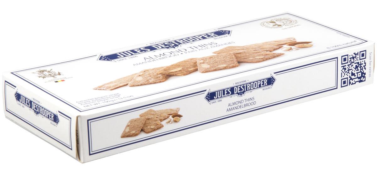 Destrooper печенье с кусочками миндаля, 100 г0120710Оригинальный рецепт 19 в, продукт поставляется Бельгийскому королевскому двору