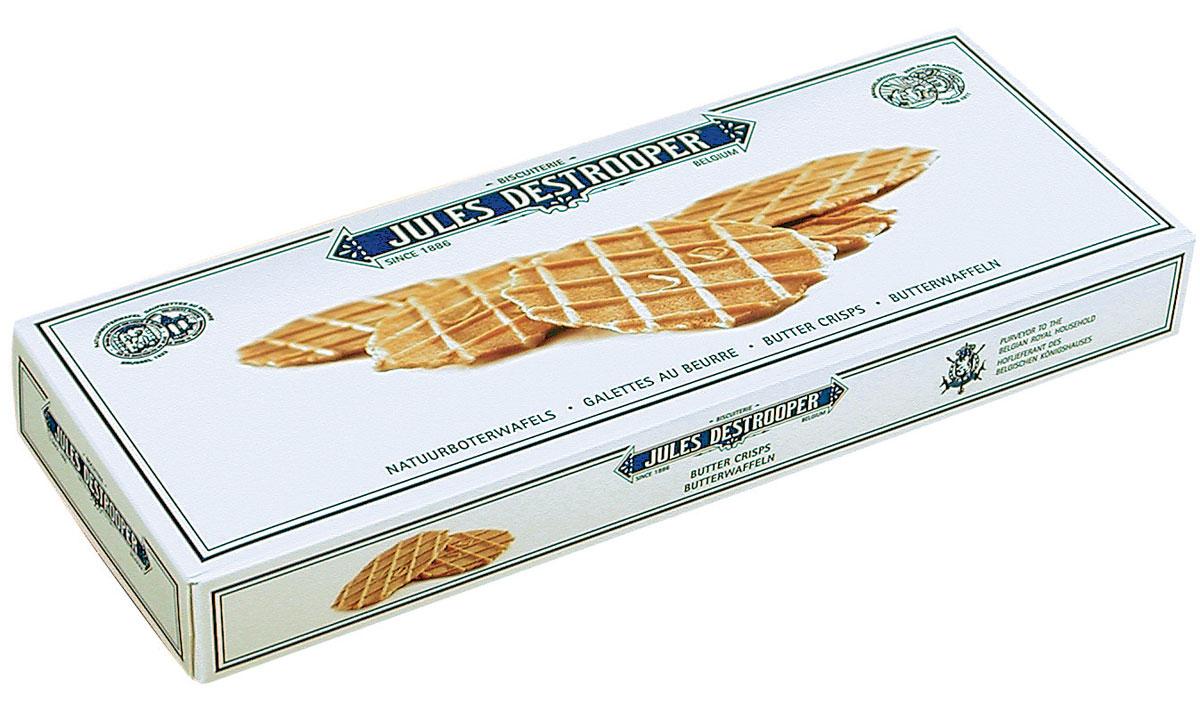 Destrooper печенье вафельное сливочное, 100 гК11077В производстве используется натуральное масло, а не концентрат.