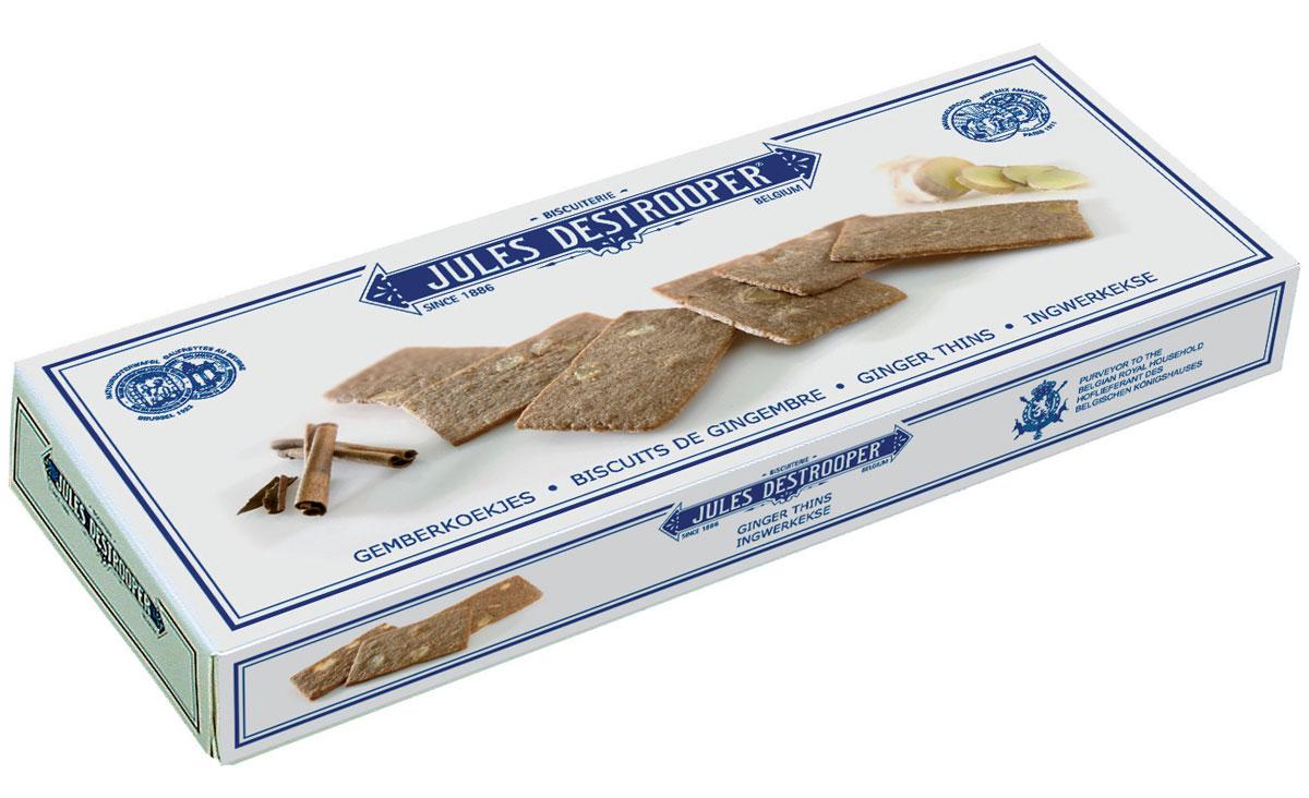Destrooper печенье с корицей и шоколадом, 100 г4014297Оригинальный рецепт 19 в, продукт поставляется Бельгийскому королевскому двору