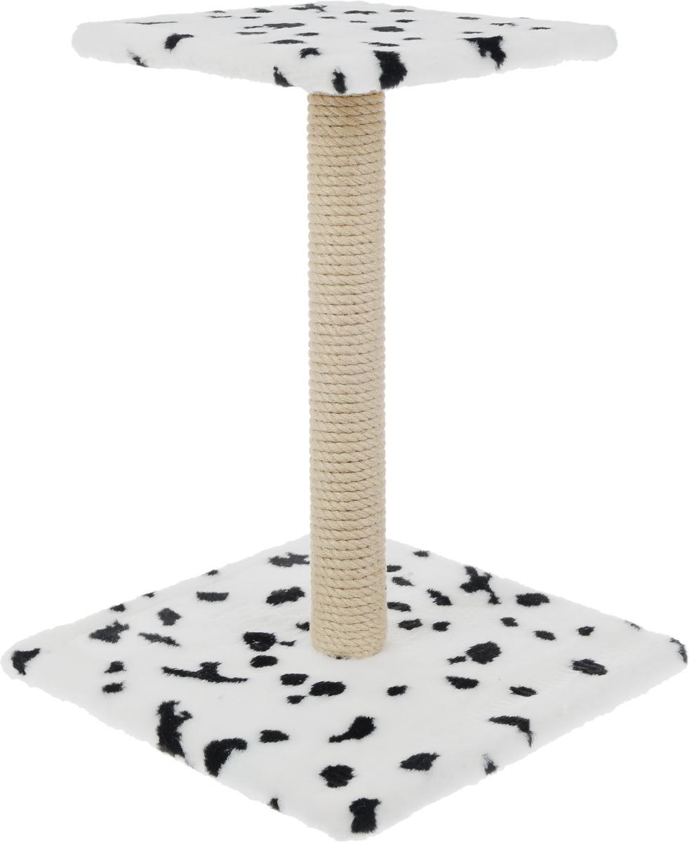 Когтеточка Меридиан Зонтик, цвет: белый, черный, бежевый, 40 х 40 х 50 смК506 ДКогтеточка Меридиан Зонтик поможет сохранить мебель и ковры в доме от когтей вашего любимца, стремящегося удовлетворить свою естественную потребность точить когти. Когтеточка изготовлена из дерева, искусственного меха и джута. Товар продуман в мельчайших деталях и, несомненно, понравится вашей кошке. Сверху имеется полка.Всем кошкам необходимо стачивать когти. Когтеточка - один из самых необходимых аксессуаров для кошки. Для приучения к когтеточке можно натереть ее сухой валерьянкой или кошачьей мятой. Когтеточка поможет вашему любимцу стачивать когти и при этом не портить вашу мебель.Размер основания: 40 х 40 см.Высота когтеточки: 50 см.Размер полки: 31 х 31 см.
