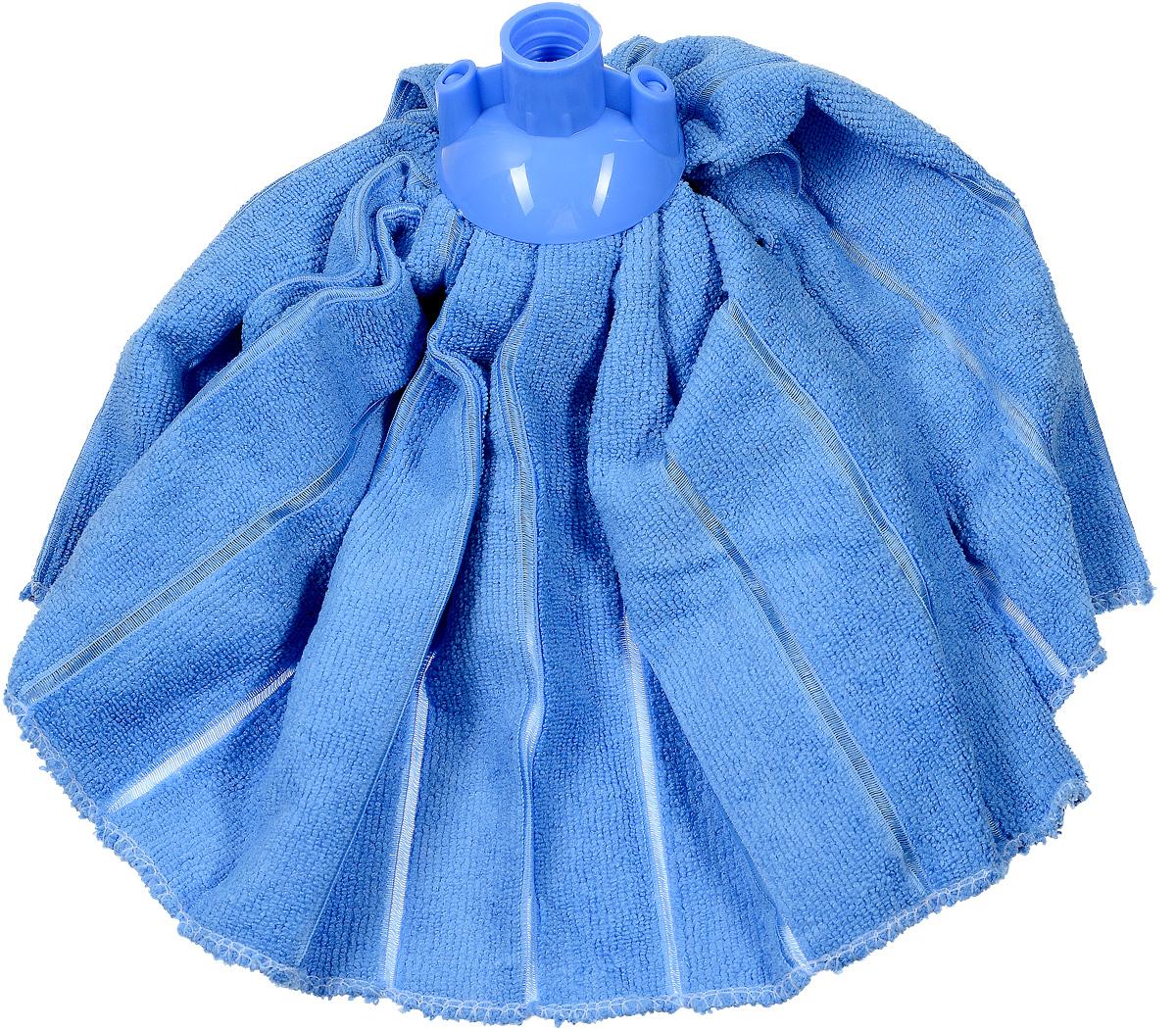 Насадка-юбка для швабры Home Queen, сменная, цвет: голубой531-301Сменная насадка для швабры Home Queen изготовлена из микрофибры и пластика. Микрофибра обладает высокой износостойкостью, не царапает поверхности и отлично впитывает влагу. Насадка отлично удаляет большинство жирных и маслянистых загрязнений без использования химических веществ. Насадка идеально подходит для мытья всех типов напольных покрытий. Она не оставляет разводов и ворсинок. Сменная насадка для швабры Home Queen станет незаменимой в хозяйстве.Длина: 32 см.Диаметр по нижнему краю: 46 см.