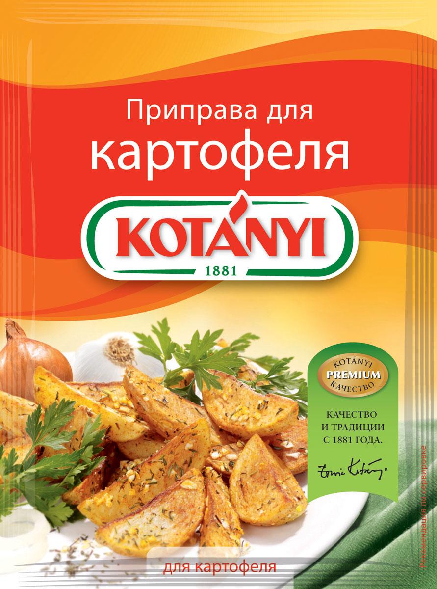 Kotanyi Приправа для картофеля, 30 г150711Приправа для картофеля Kotanyi - это сбалансированная смесь ароматных трав и специй, идеально подходящих для любых блюд из картофеля. Применение: картофельные блюда, супы, запеканки.