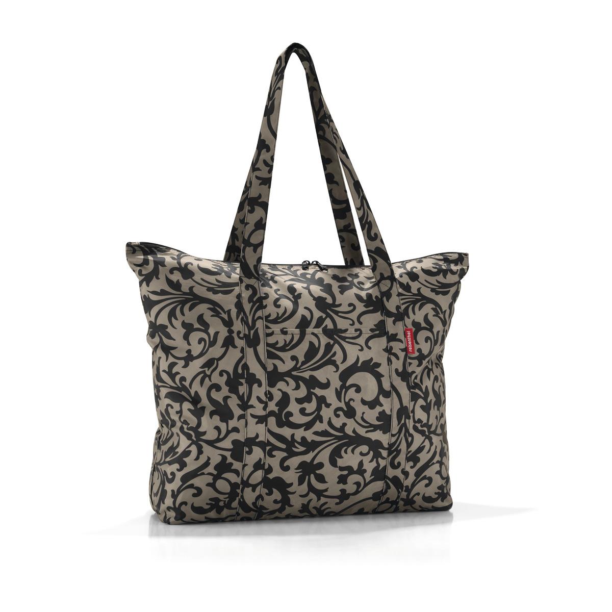 Сумка-шоппер Reisenthel, цвет: бежевый, черный. AE7027S76245Идеальный компаньон для путешествий, ведь из поездки мы всегда возвращаемся со множеством сувениров и покупок. Так что еще одна сумка пригодится. Она легко складывается в маленький чехол, которые можно взять с собой в сумке или рюкзаке. Так же можно использовать для похода за продуктами.Внутренний объем сумки - 25 литров. Есть просторный внешний карман для мелочей.