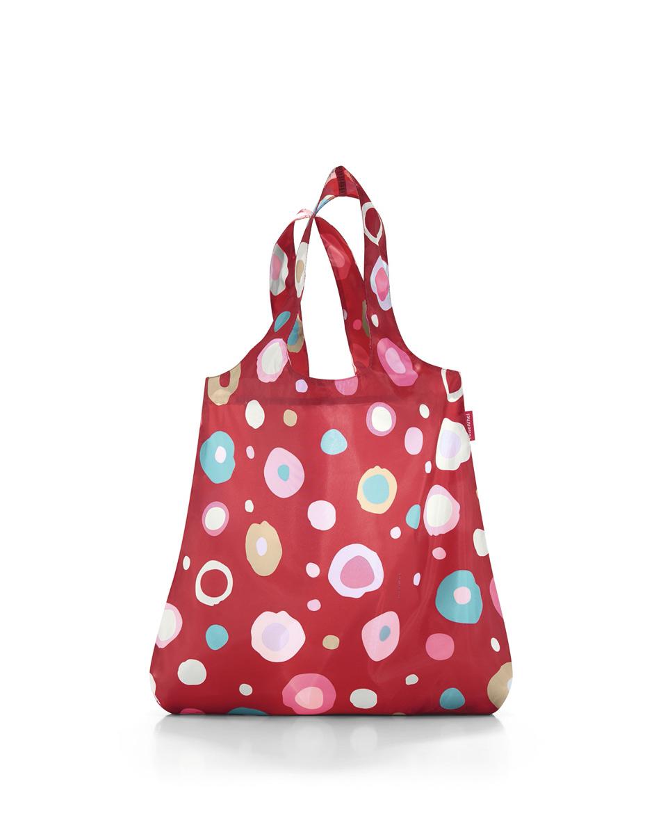 Сумка-шоппер женская Reisenthel, цвет: красный, белый. AT30488-2В европейских странах люди давно отказались от одноразовых пластиковых пакетов ради сохранения окружающей среды. Так что абсолютно все ходят за продуктами с авоськами, одна другой симпатичнее. Последуем их примеру, тем более, что такая сумка может сворачиваться до компактного размера, а затем фиксироваться резинкой для удобства переноски. Она всегда с вами.Объем - 15 литров. Удобные широкие ручки. Размер в сложенном состоянии - 12 х 6 х 2 см.