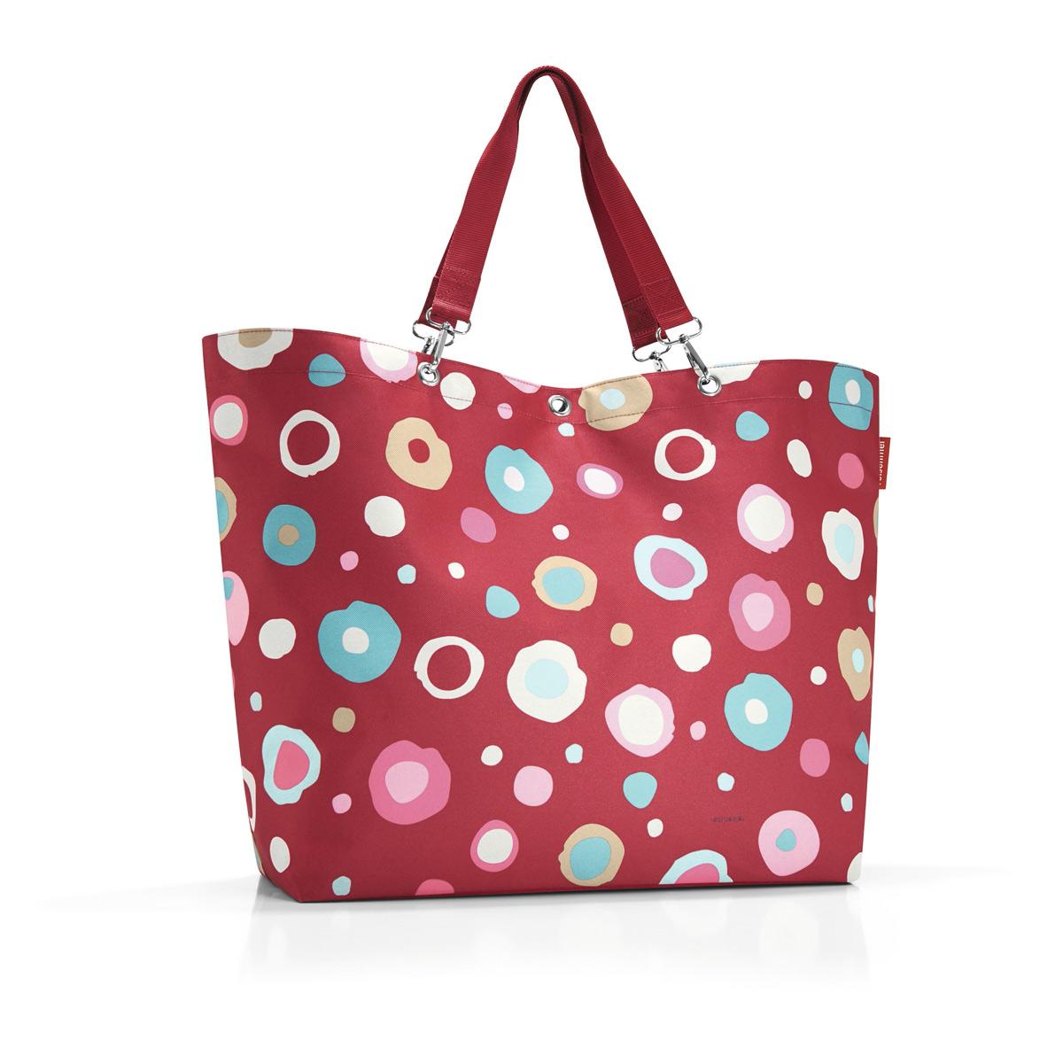 Сумка-шоппер женская Reisenthel, цвет: красный, белый. ZU3048ML597BUL/DОтличная сумка для похода за продуктами, для путешествий и спортзала: прочные удобные лямки на карабинах распределяют нагрузку на плечо, а объем 35 литров позволяет вместить всё нужное и даже чуть больше. Застегивается на молнию. Внутри - кармашек на молнии для мелочей и карман для мобильного телефона.