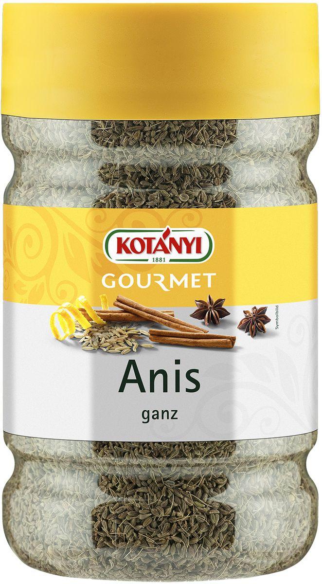 Kotanyi Анис целый, 520 г0120710Анис Kotanyi придает блюдам сладковатый, пряный вкус, напоминающий вкус лакрицы. Он незаменим в индийской и китайской кухне, подходит как для основных блюд, так и для десертов. Придает тонкий аромат всем видам выпечки, курице, свинине, а также супам, соусам, пуншу и ликерам.