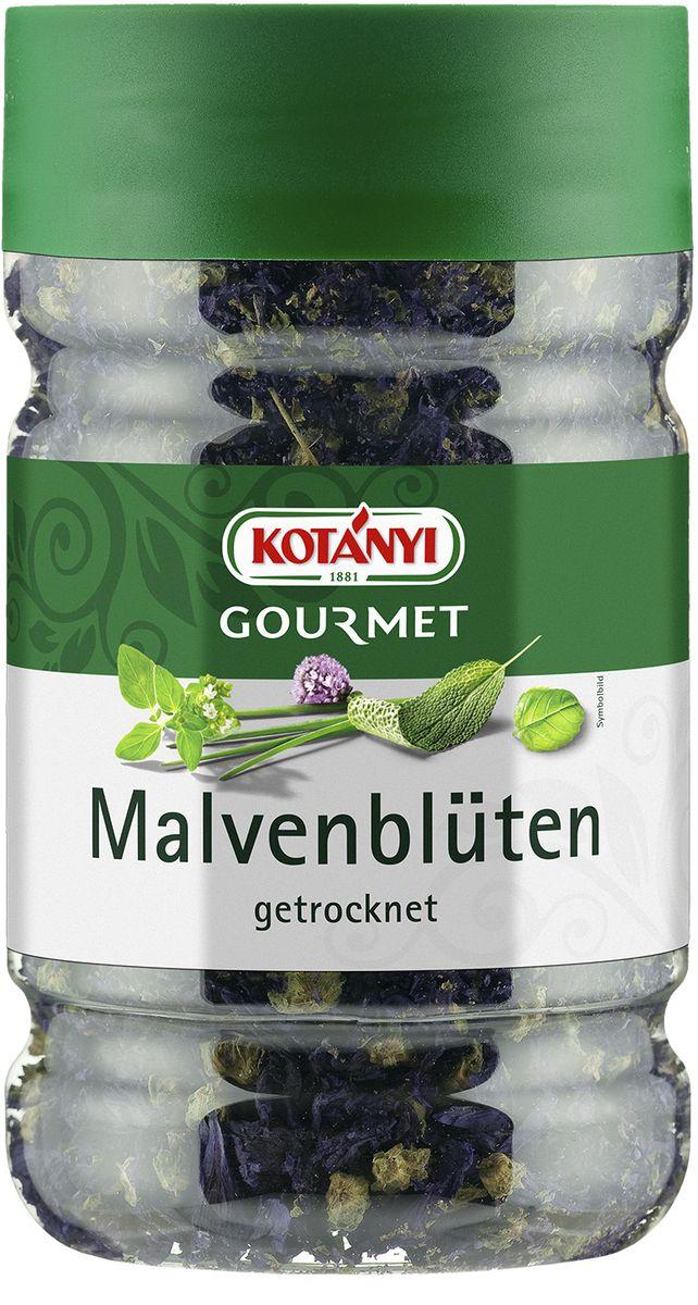 Kotanyi Соцветия мальвы сушеные, 45 г255201Мальва используется для украшения салатов, закусок, блюд из риса и макарон, а также сладких блюд (например, мороженого). Может содержать следы глютеносодержащих злаков, яиц, сои, сельдерея, кунжута, орехов, горчицы, молока (лактозы). Хранить плотно закрытым в сухом месте.