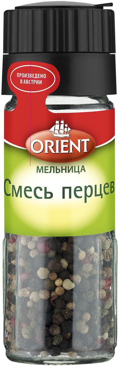 Orient Смесь перцев, 35 г430211Orient Смесь перцев идеально подходит к рыбе, салатам, супам, соусам и различным овощным блюдам.Внимание! Может содержать следы глютеносодержащих злаков, яиц, сои, сельдерея, кунжута, орехов, горчицы, молока (лактозы). Уважаемые клиенты! Обращаем ваше внимание, что полный перечень состава продукта представлен на дополнительном изображении.