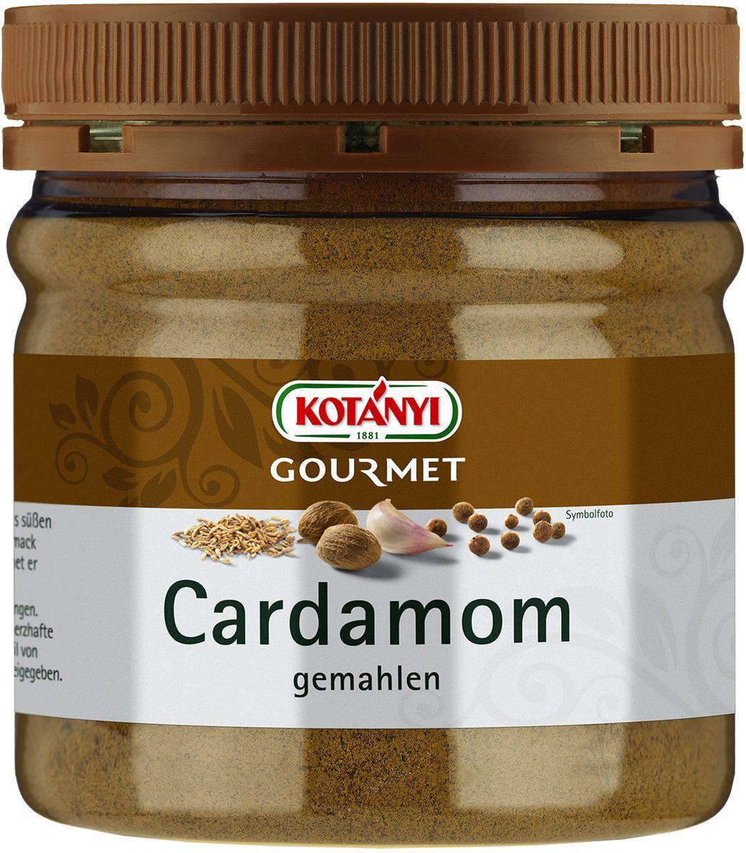 Kotanyi Кардамон молотый, 159 г742701Кардамон обладает ярким вкусом и ароматом, напоминающим эвкалипт. Кардaмон Kotanyi придаст вашим блюдам пикантную восточную нотку. Он подходит для мясных блюд, а также для сладких блюд и выпечки, приготовления глинтвейна, кофе, чая и других горячих напитков.Может содержать следы глютеносодержащих злаков, яиц, сои, сельдерея, кунжута, орехов, молока (лактозы), горчицы. Хранить плотно закрытым в сухом месте.