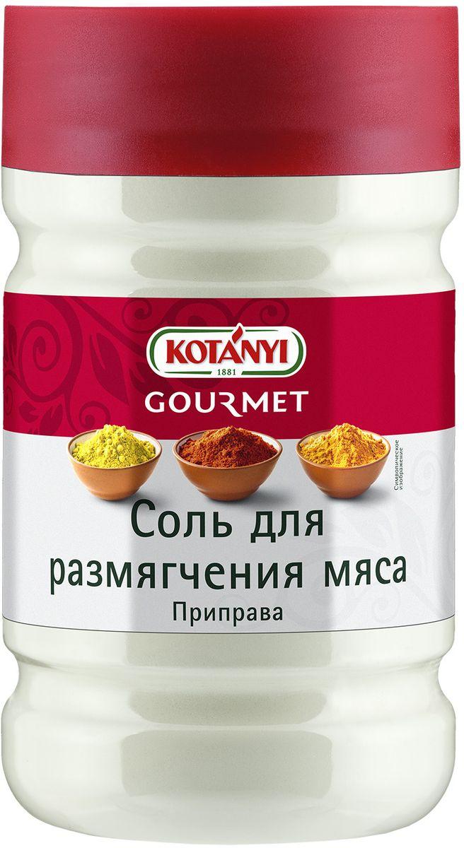 Kotanyi Соль для размягчения мяса, 1,57 кг0120710Соль для размягчения мяса Kotanyi содержит натуральный фруктовый энзим папаин, который быстро размягчает и делает более нежной мускульную ткань мяса.Применение: проткните мясо вилкой в нескольких местах и натрите с обеих сторон приправой за полчаса до начала приготовления.Может содержать следы глютеносодержащих злаков, яиц, сои, сельдерея, кунжута, орехов, горчицы, молока (лактозы).