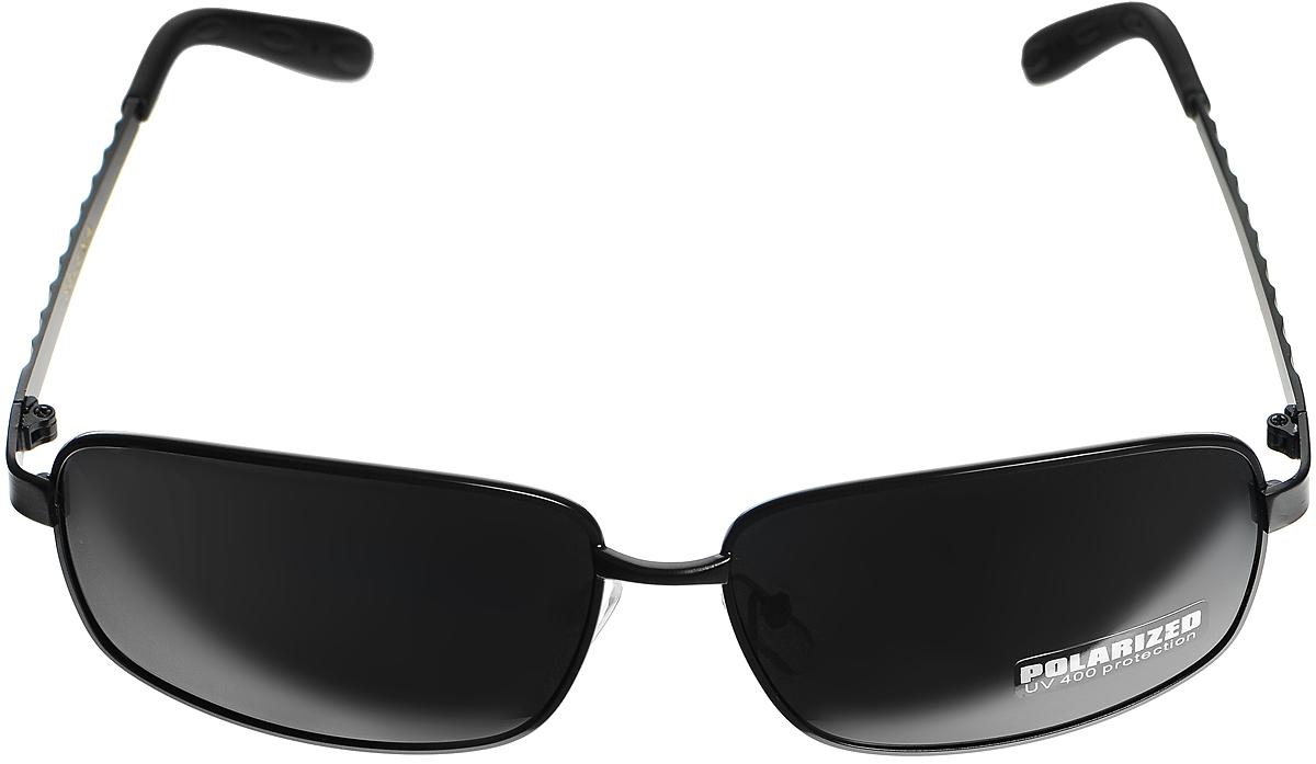 Очки солнцезащитные женские Selena, цвет: черный. 80032961EQW-M710DB-1A1Солнцезащитные женские очки Selena выполнены из высококачественного пластика. Дужки оформлены узором в виде ромбов.Линзы данных очков с высокоэффективным фильтром UV-400 Protection обеспечивают полную защиту от ультрафиолетовых лучей. Используемый пластик не искажает изображение, не подвержен нагреванию и вредному воздействию солнечных лучей.Такие очки защитят глаза от ультрафиолетовых лучей, подчеркнут вашу индивидуальность и сделают ваш образ завершенным.