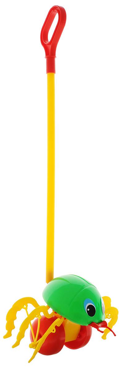 Спектр Игрушка-каталка Жук цвет зеленый купить щетку для тела с длинной ручкой