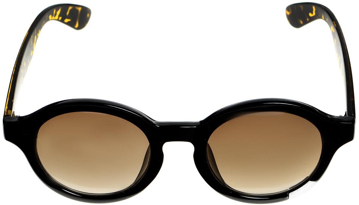 Очки солнцезащитные женские Selena, цвет: черный, коричневый. 80033471BM8434-58AEСолнцезащитные женские очки Selena выполнены из металла с элементами из высококачественного пластика. Дужки оформлены декоративными узорами, а оправа дополнена металлической вставкой.Линзы данных очков с высокоэффективным фильтром UV-400 Protection обеспечивают полную защиту от ультрафиолетовых лучей. Используемый пластик не искажает изображение, не подвержен нагреванию и вредному воздействию солнечных лучей.Такие очки защитят глаза от ультрафиолетовых лучей, подчеркнут вашу индивидуальность и сделают ваш образ завершенным.