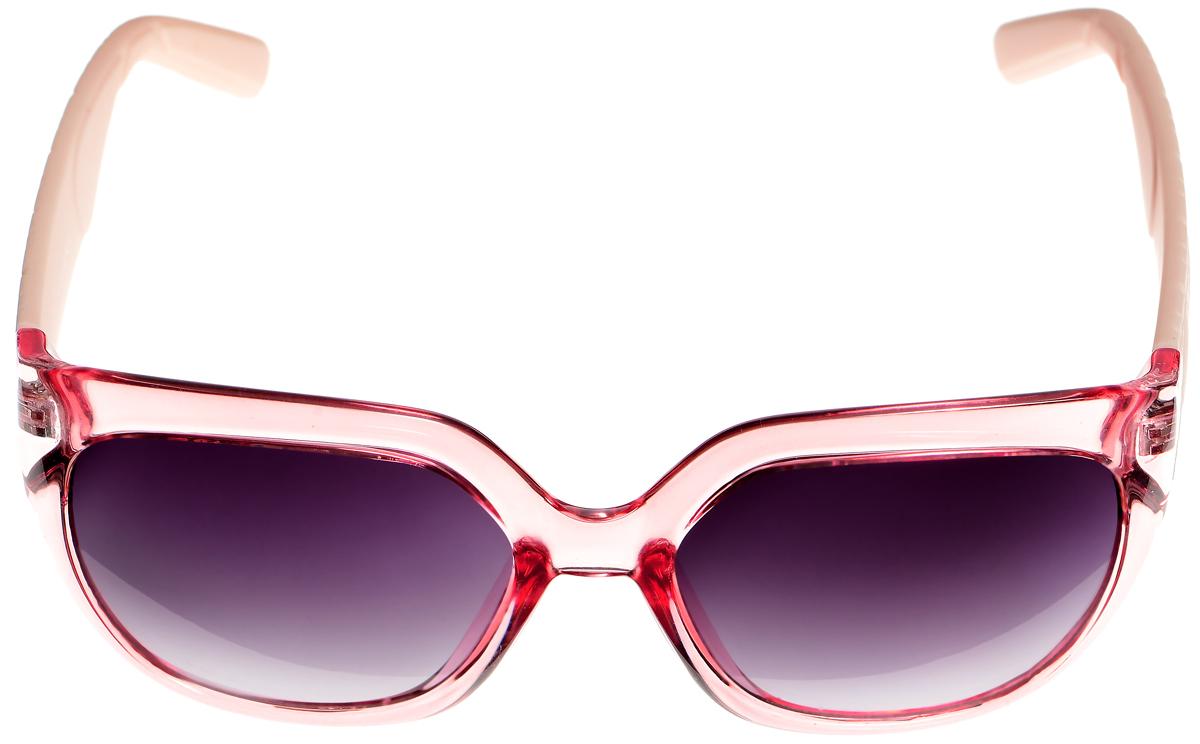 Очки солнцезащитные женские Selena, цвет: розовый, светло-персиковый, серый. 80033381INT-06501Солнцезащитные женские очки Selena выполнены из высококачественного пластика. Дужки оформлены геометрическим орнаментом и имеют бархатистую поверхность.Линзы данных очков с высокоэффективным фильтром UV-400 Protection обеспечивают полную защиту от ультрафиолетовых лучей. Используемый пластик не искажает изображение, не подвержен нагреванию и вредному воздействию солнечных лучей.Такие очки защитят глаза от ультрафиолетовых лучей, подчеркнут вашу индивидуальность и сделают ваш образ завершенным.