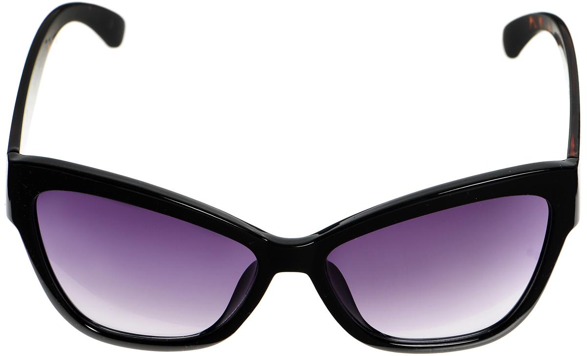 Очки солнцезащитные женские Selena, цвет: черный. 80033261BM8434-58AEСолнцезащитные женские очки Selena выполнены из металла с элементами из высококачественного пластика. Дужки и мостик оформлены декоративной резьбой.Линзы данных очков с высокоэффективным фильтром UV-400 Protection обеспечивают полную защиту от ультрафиолетовых лучей. Используемый пластик не искажает изображение, не подвержен нагреванию и вредному воздействию солнечных лучей.Такие очки защитят глаза от ультрафиолетовых лучей, подчеркнут вашу индивидуальность и сделают ваш образ завершенным.