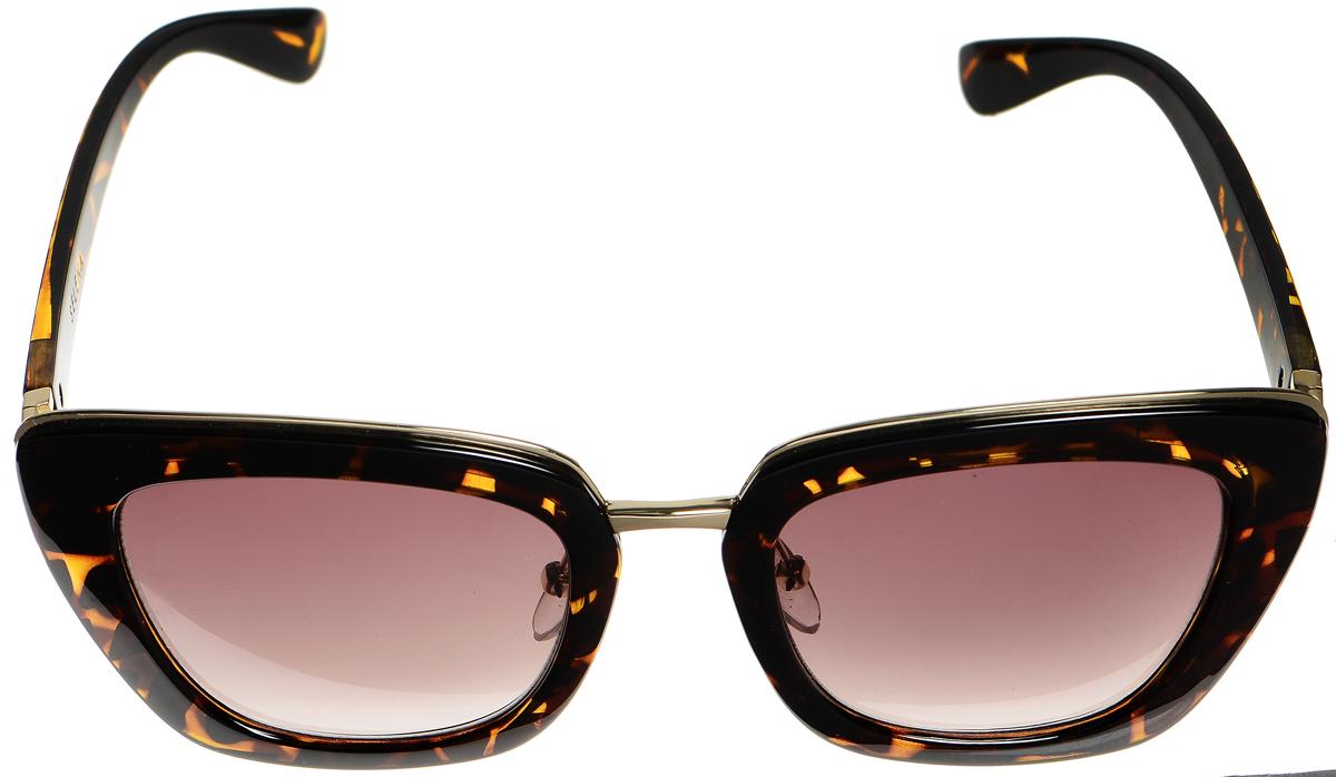 Очки солнцезащитные женские Selena, цвет: коричневый, золотистый. 80034181INT-06501Солнцезащитные женские очки Selena выполнены из высококачественного пластика с элементами из металла и оформлены оригинальным рисунком.Линзы данных очков с высокоэффективным фильтром UV-400 Protection обеспечивают полную защиту от ультрафиолетовых лучей. Используемый пластик не искажает изображение, не подвержен нагреванию и вредному воздействию солнечных лучей.Такие очки защитят глаза от ультрафиолетовых лучей, подчеркнут вашу индивидуальность и сделают ваш образ завершенным.