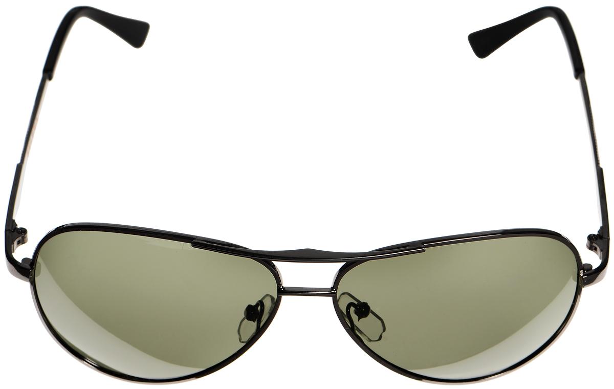 Очки солнцезащитные женские Selena, цвет: темно-зеленый, серый. 80033021BM8434-58AEСолнцезащитные женские очки Selena выполнены из металла с элементами из высококачественного пластика. Дужки оформлены декоративными элементами.Линзы данных очков с высокоэффективным фильтром UV-400 Protection обеспечивают полную защиту от ультрафиолетовых лучей. Используемый пластик не искажает изображение, не подвержен нагреванию и вредному воздействию солнечных лучей.Такие очки защитят глаза от ультрафиолетовых лучей, подчеркнут вашу индивидуальность и сделают ваш образ завершенным.