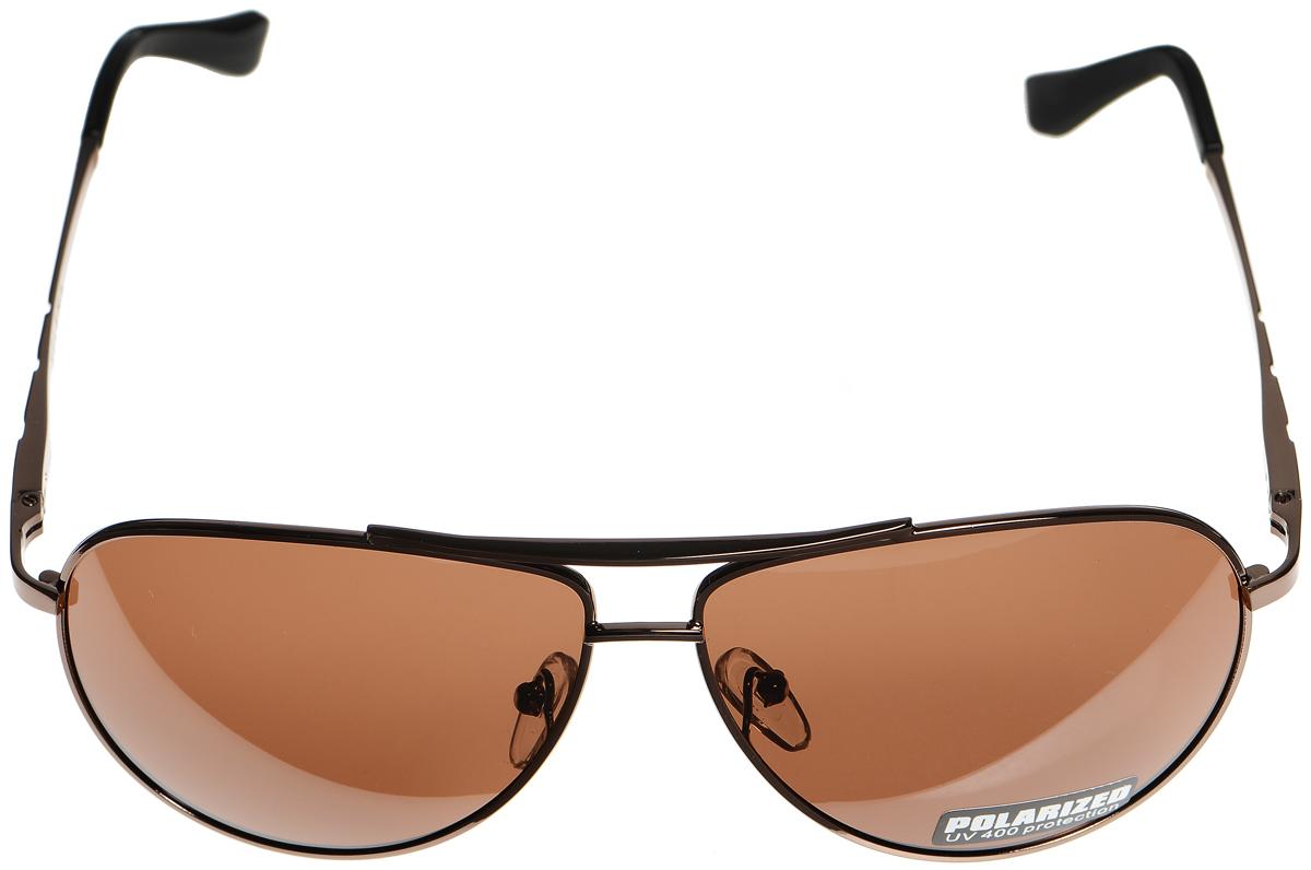 Очки солнцезащитные женские Selena, цвет: коричневый, черный. 80033051INT-06501Солнцезащитные женские очки Selena выполнены из металла с элементами из высококачественного пластика. Дужки оформлены декоративной резьбой.Линзы данных очков с высокоэффективным фильтром UV-400 Protection обеспечивают полную защиту от ультрафиолетовых лучей. Используемый пластик не искажает изображение, не подвержен нагреванию и вредному воздействию солнечных лучей.Такие очки защитят глаза от ультрафиолетовых лучей, подчеркнут вашу индивидуальность и сделают ваш образ завершенным.