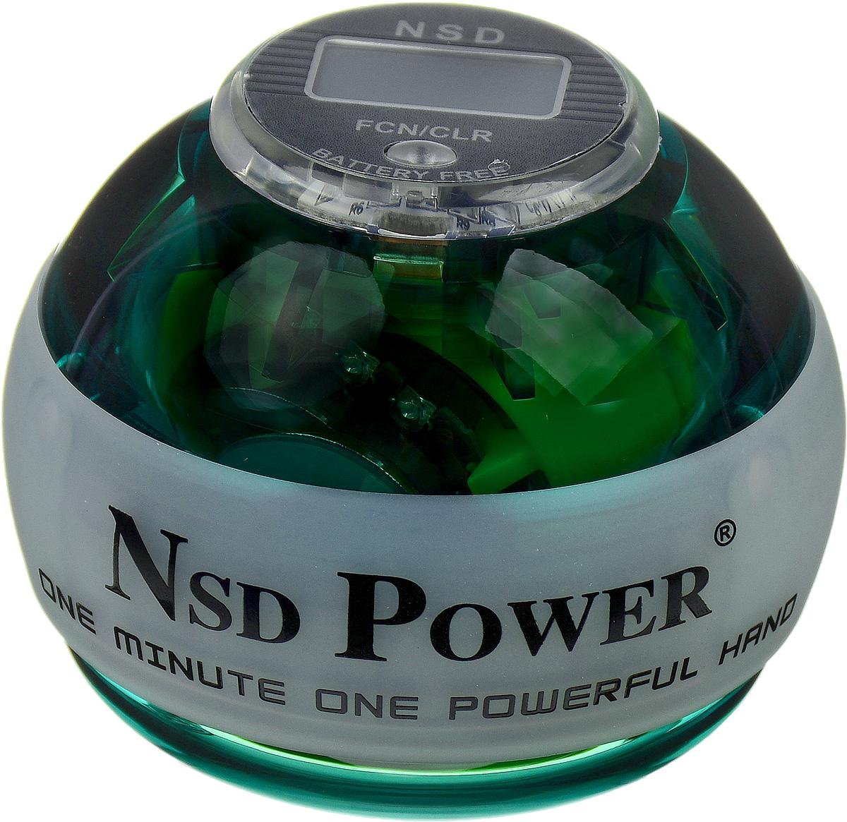Тренажер кистевой NSD Power Powerball Neon Pro, цвет: зеленый тренажер кистевой nsd power powerball neon цвет оранжевый