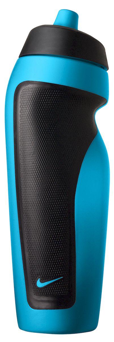 Бутылка для воды Nike, цвет: голубой, черный, 600 млN.OB.17.660.22Бутылка для воды Nike. Герметичный клапан. Ассиметричный дизайн для одной руки обеспечивает удобство при использовании во время тренировок и в зале. Подходит для велосипедных держателей. Объем 600 мл.