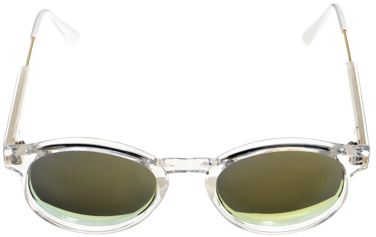 Очки солнцезащитные женские Selena, цвет: белый, золотистый. 80033331INT-06501Солнцезащитные женские очки Selena выполнены из высококачественного пластика с элементами из металла.Линзы данных очков с высокоэффективным фильтром UV-400 Protection обеспечивают полную защиту от ультрафиолетовых лучей. Используемый пластик не искажает изображение, не подвержен нагреванию и вредному воздействию солнечных лучей.Такие очки защитят глаза от ультрафиолетовых лучей, подчеркнут вашу индивидуальность и сделают ваш образ завершенным.