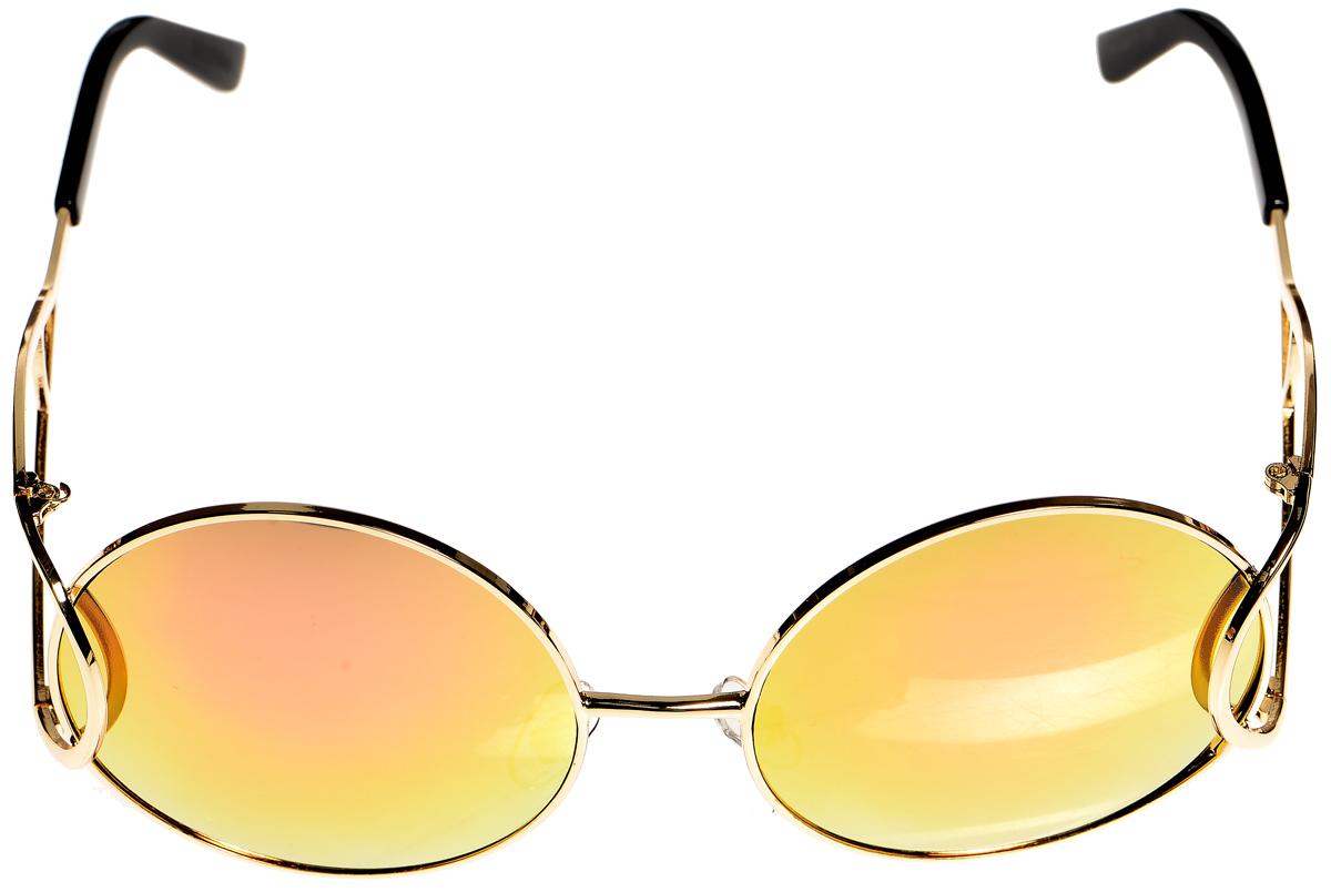 Очки солнцезащитные женские Selena, цвет: золотистый, розовый, черный. 80033961BM8434-58AEСолнцезащитные женские очки Selena выполнены из металла с элементами из высококачественного пластика. Дужки имеют оригинальную форму.Линзы данных очков с высокоэффективным фильтром UV-400 Protection обеспечивают полную защиту от ультрафиолетовых лучей и имеют зеркальную поверхность. Используемый пластик не искажает изображение, не подвержен нагреванию и вредному воздействию солнечных лучей.Такие очки защитят глаза от ультрафиолетовых лучей, подчеркнут вашу индивидуальность и сделают ваш образ завершенным.