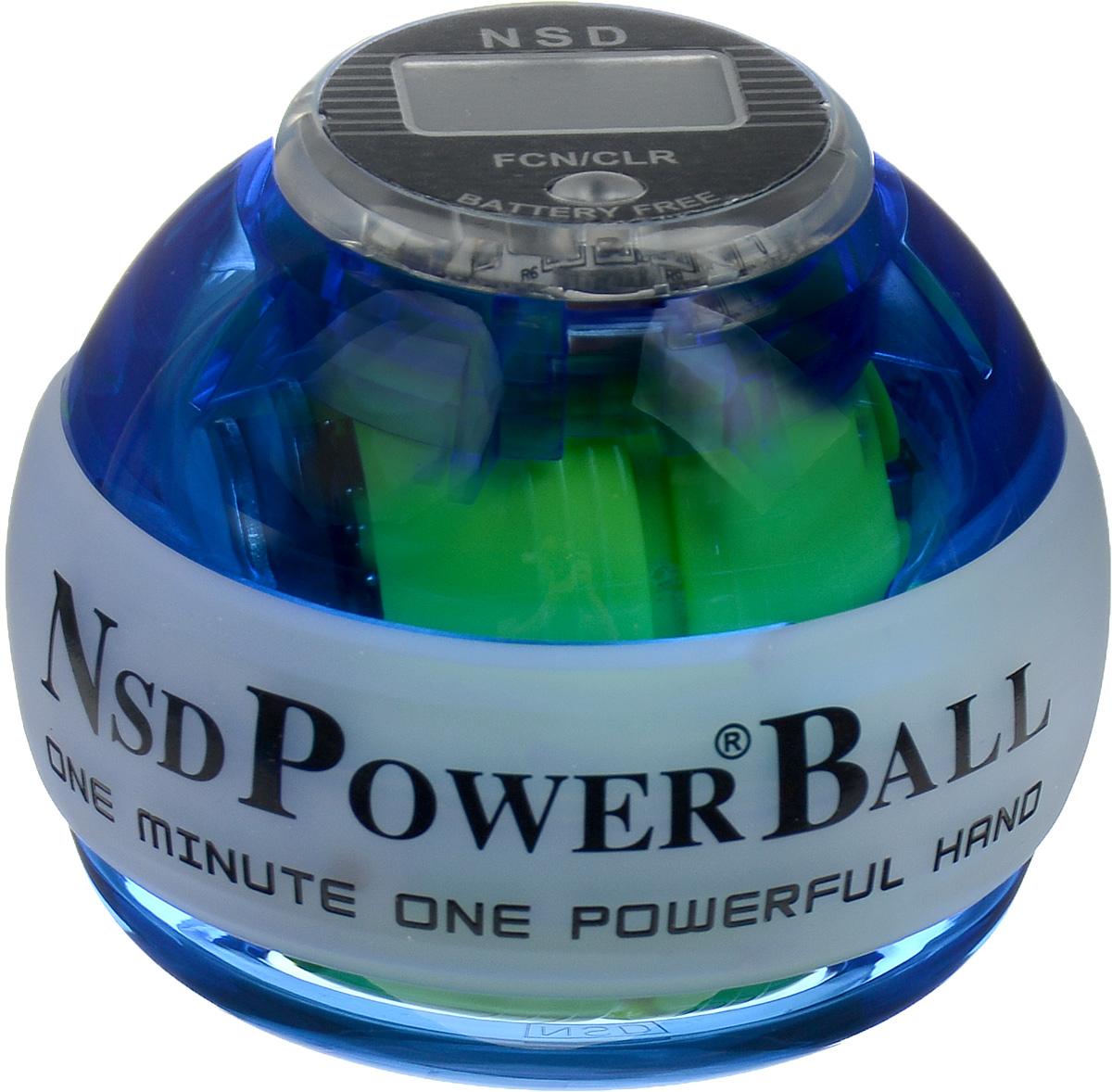 Тренажер кистевой NSD Power  Powerball Neon Pro , цвет: синий - Мини-тренажеры