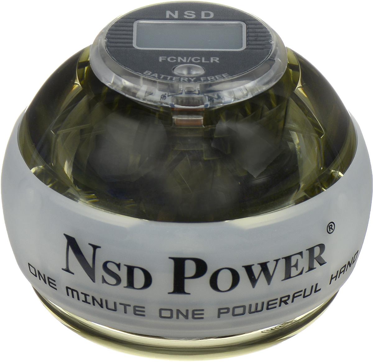 Тренажер кистевой NSD Power Powerball Neon Pro, цвет: белый тренажер кистевой nsd power powerball neon цвет оранжевый