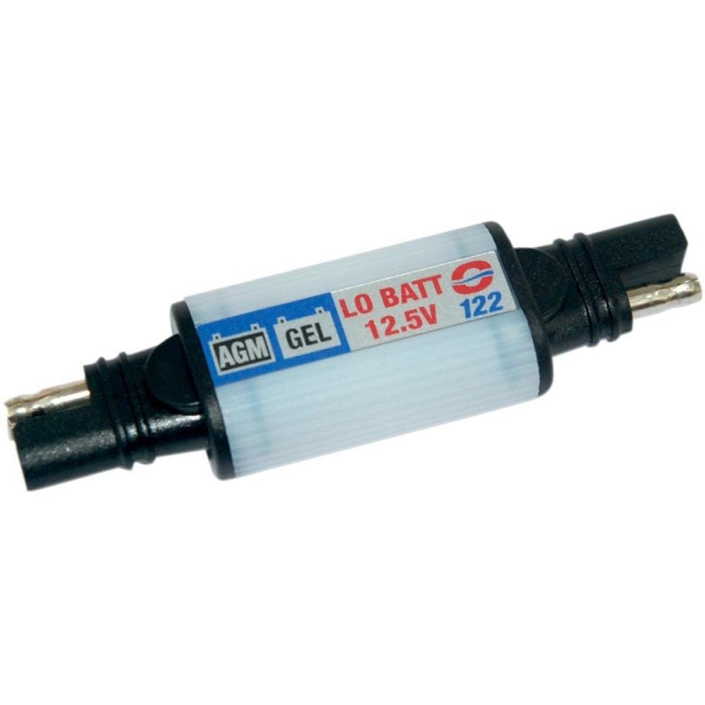 Монитор заряда аккумулятора для GEL/AGM OptiMate. O122Z-0307Индикатор разряда OptiMate GEL и AGM аккумуляторных батарей начинает мигать при снижении напряжения до 12,5В. Подключение к АКБ осуществляется с помощью аксессуаров O1, O2, O4, O5.