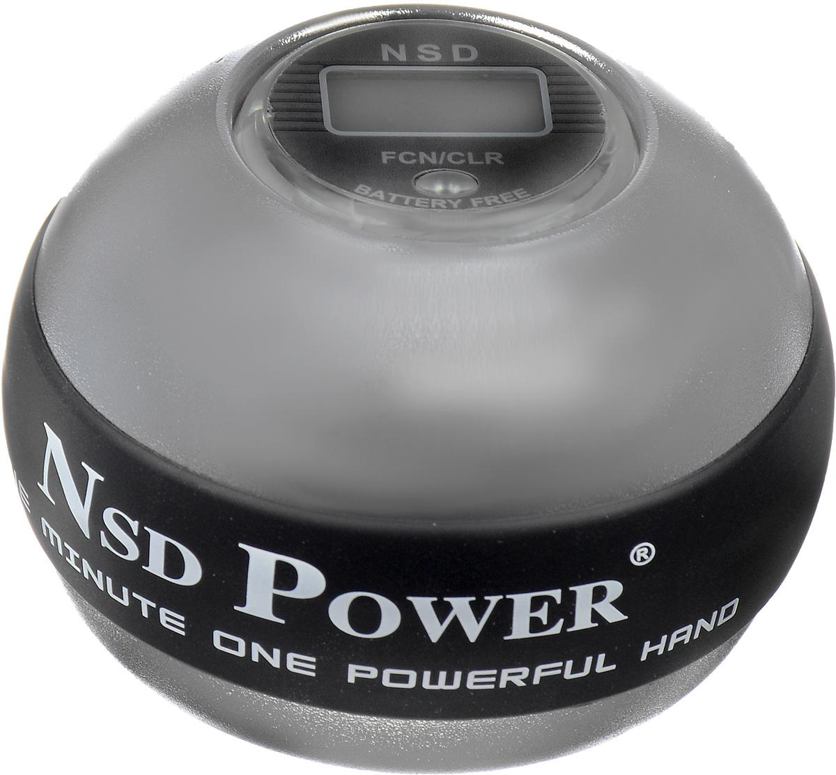Тренажер кистевой NSD Power 888 Metal Titan. PB-888C SILVER powerball neon red pro кистевой тренажер со счетчиком