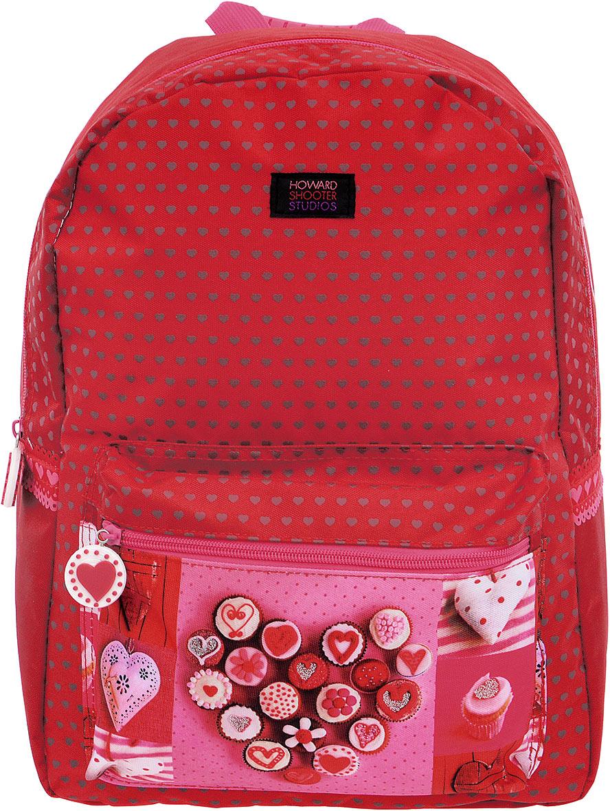 Proff Рюкзак детский Hearts цвет красный72523WDДетский рюкзак Hearts - это красивый и удобный рюкзак, который подойдет всем, кто хочет разнообразить свои будни. Рюкзак выполнен из плотного материала и оформлен ярким принтом с блестками и сердечками. Рюкзак имеет одно основное вместительное отделения на молнии. Внутри отделения расположен мягкий карман для планшета или ноутбука. На лицевой стороне расположен накладной карман на молнии. Внутри кармашка имеется лента с карабином для ключей. Рюкзак также оснащен удобной прорезиненной ручкой для переноски.Широкие лямки можно регулировать по длине. Многофункциональный детский рюкзак станет незаменимым спутником вашего ребенка.