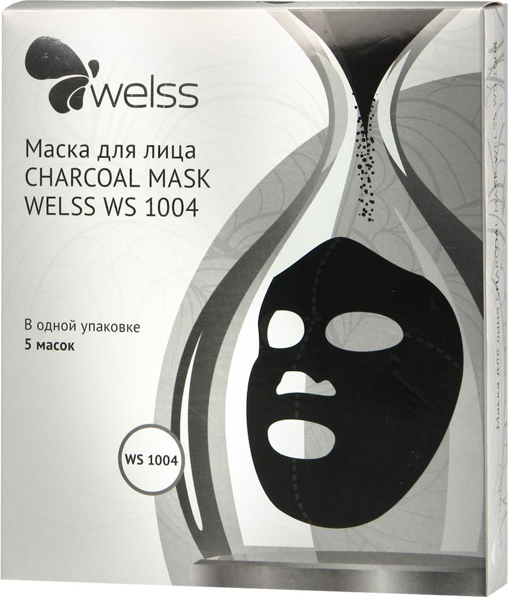 Маска для лица CHARCOAL MASK WELSS WS 1004 (упаковка 5шт)FS-00897??Черный уголь куродзуми из японского дуба Каси, получаемый обжигом древесины при низкой температуре – 400–700°С, не зря называют «Чёрным золотом!». Глубокое очищение пор, возвращает эластичность и тонус коже, сужение расширенных пор, баланс влаги в коже, возвращает здоровый цвет лица, делает кожу нежной, гладкой и увлажнённой.