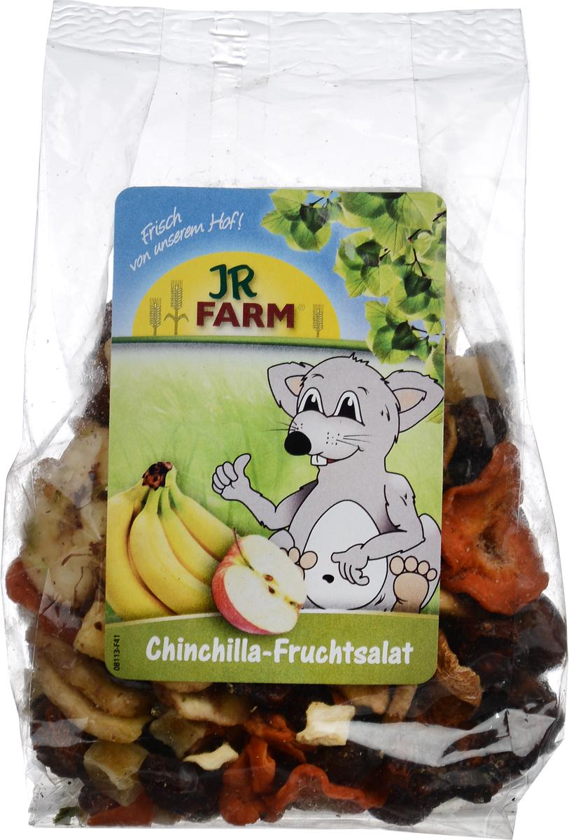 Лакомство для шиншилл JR Farm Фруктовый салат, 125 г0120710Лакомство для шиншилл JR Farm Фруктовый салат - это фруктовая смесь без добавления сахаров и консервантов. Богата витаминами, натуральные компоненты способствуют сохранению здоровья и привносят разнообразие в каждодневную диету шиншилл.Состав: плоды шиповника, бананы, яблоки, морковь, картофель, пастернак, ягоды рябины, лук-порей. Гарантированный анализ: протеин - 5,4%, жиры - 10,3%, клетчатка - 9,4%, зола - 3,6%.Вес: 125 г.Товар сертифицирован.