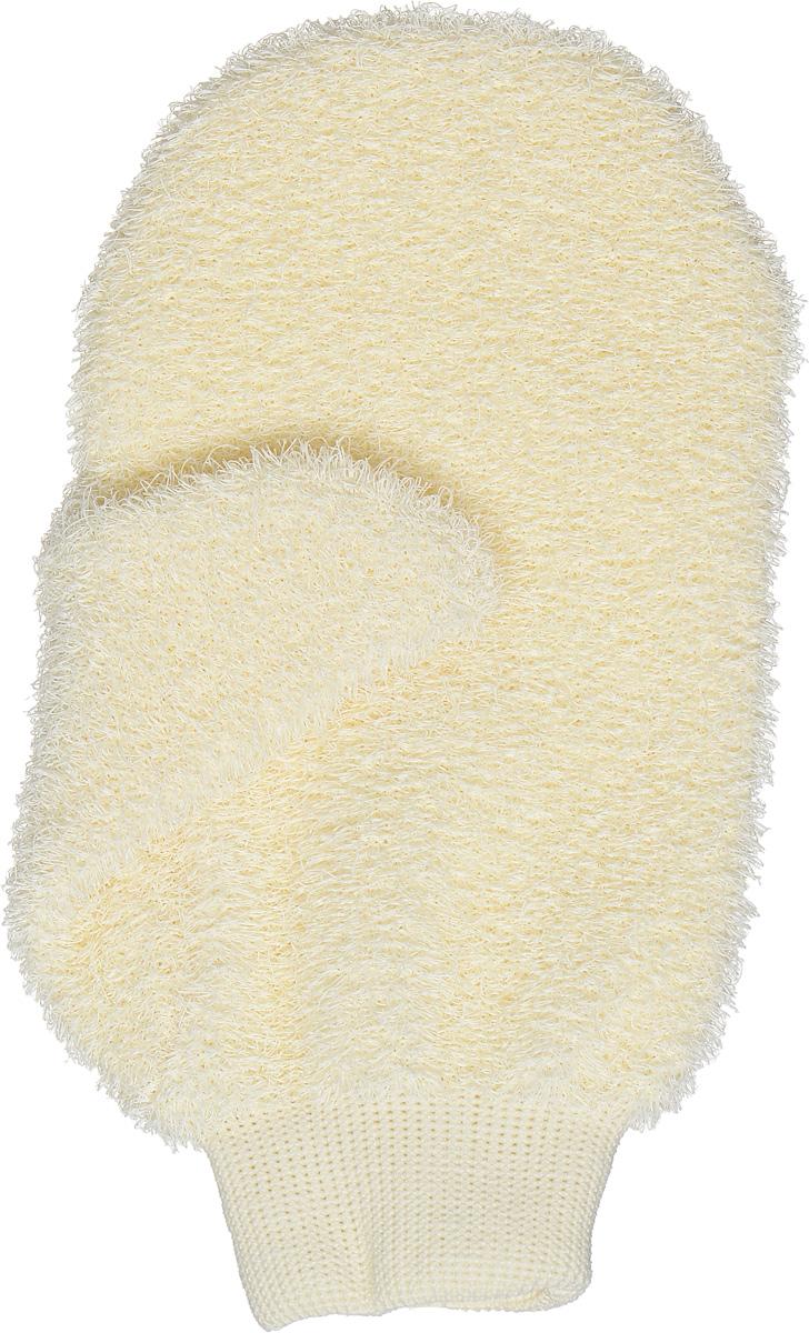 Riffi Мочалка-рукавица массажная, жесткая, цвет: молочный1092018Жесткая мочалка-рукавица Riffi используется для мытья тела, обладает активным пилинговым действием, тонизируя, массируя и эффективно очищая вашу кожу. Интенсивный и пощипывающе свежий массаж с применением Riffi оживляет кожу, активирует кровоснабжение и улучшает общее самочувствие. Благодаря отшелушивающему эффекту, мочалка освобождает кожу от отмерших клеток, делает ее гладкой, упругой и свежей. Приносит приятное расслабление всему организму. Эффективно предупреждает образование целлюлита.Товар сертифицирован.