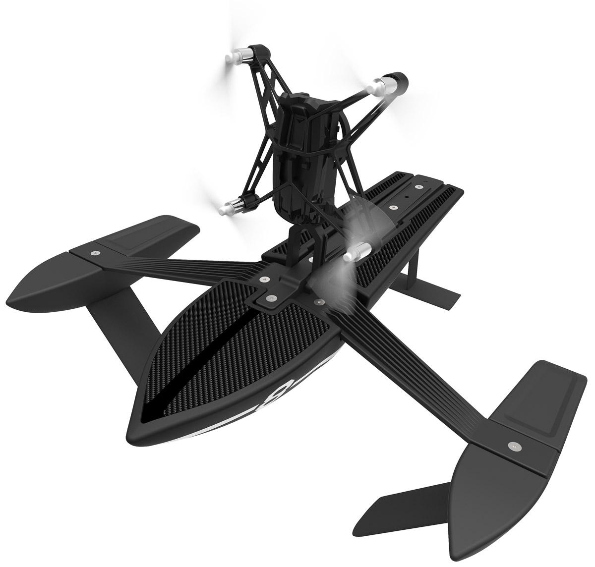 Parrot Квадрокоптер на радиоуправлении Minidrone Hydrofoil Orak и корабль
