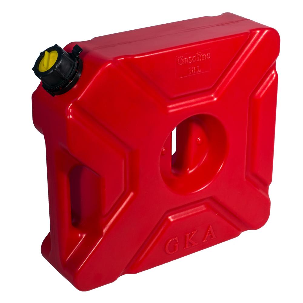 Канистра экспедиционная GKA, цвет: красный, 10 лGC204/30Канистра экспедиционная плоская 10 литров GKA. Изготавливаются из высокопрочных полимеров. Предназначена для любого вида топлива и воды.Укомплектованы гибким носиком для розлива жидкостей. Уплотнитель и антивибрационная система крышки не позволяет жидкости расплескиваться.