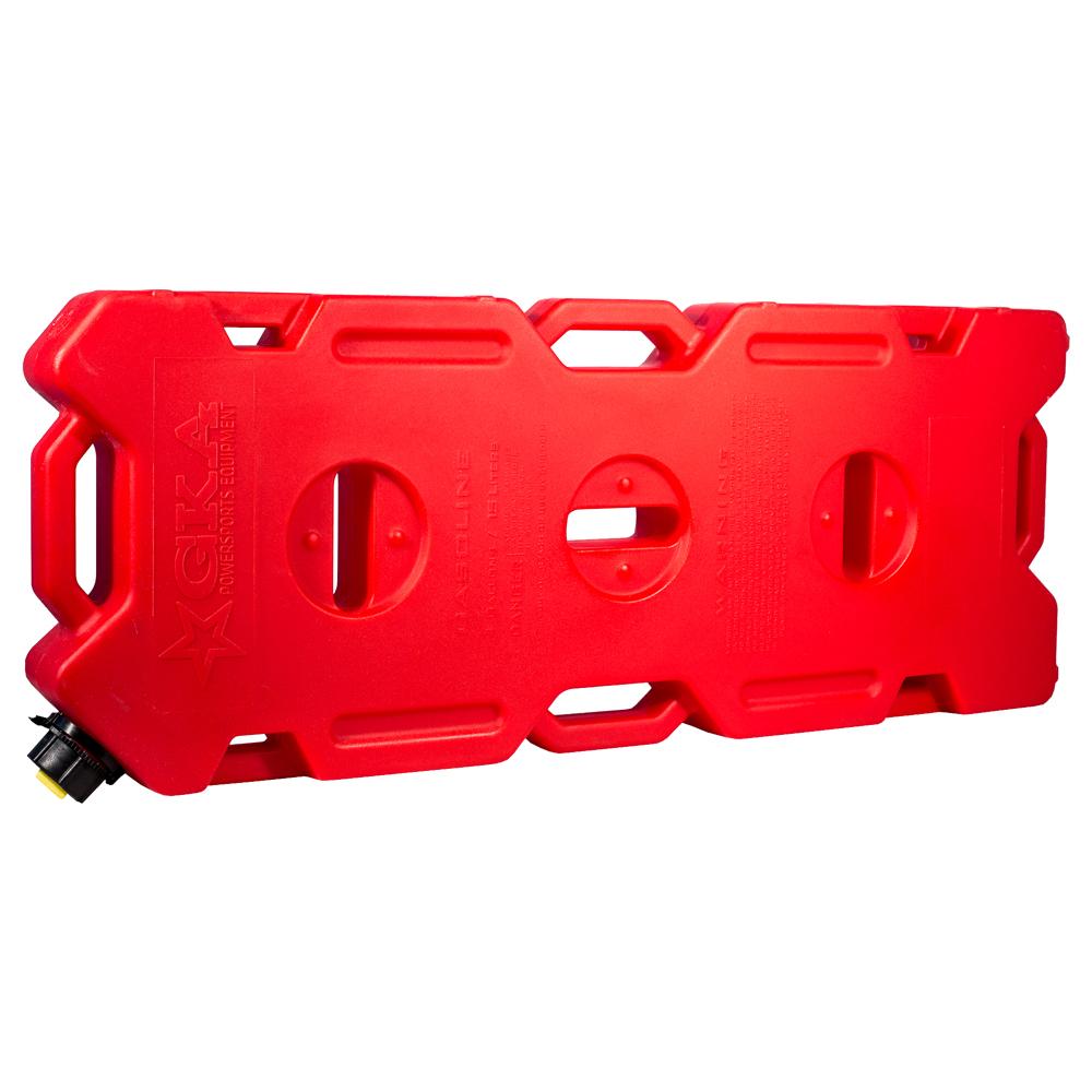 Канистра экспедиционная GKA, цвет: красный, 15 л19199Канистра экспедиционная плоская 15 литров GKA. Изготавливаются из высокопрочных полимеров. Предназначена для любого вида топлива и воды.Укомплектованы гибким носиком для розлива жидкостей. Уплотнитель и антивибрационная система крышки не позволяет жидкости расплескиваться.