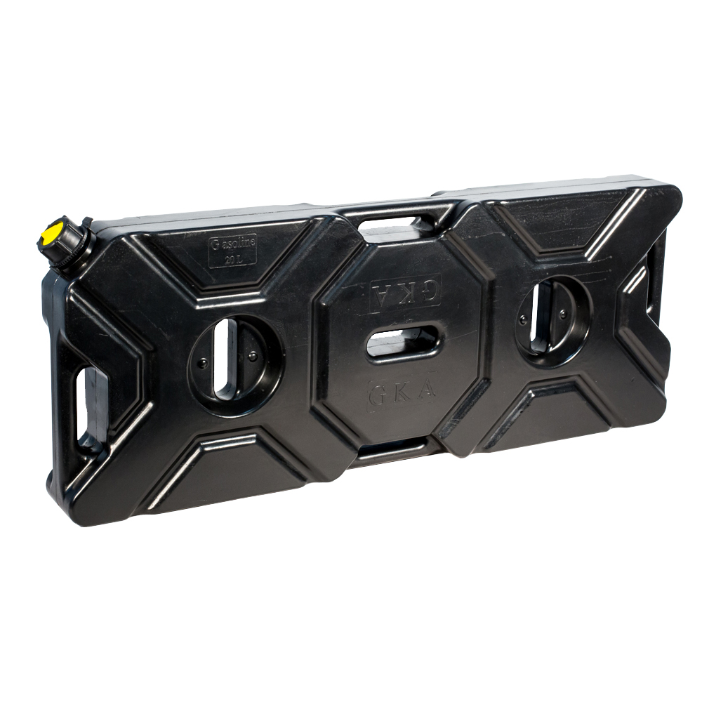 Канистра экспедиционная GKA, цвет: черный, 20 лS02601004Канистра экспедиционная плоская 20 литров GKA. Изготавливаются из высокопрочных полимеров. Предназначена для любого вида топлива и воды.Укомплектованы гибким носиком для розлива жидкостей. Уплотнитель и антивибрационная система крышки не позволяет жидкости расплескиваться.