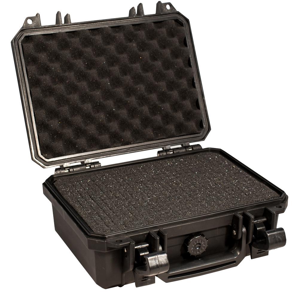 Кейс противоударный PRO-4x4 №1, влагозащищенный, 28 х 23 х 12,4 см, цвет: черныйCLP446В кейс №1 с адаптивным поропластом прекрасно помещаются фото и видео камеры, небольшое медицинское оборудование и личное оружие. Преперфорированная пена позволяет отлично уложить и сохранить ваши вещи.Защищенные кейсы это надежный и проверенный способ сохранить в целостности дорогостоящее оборудование, требующее бережной транспортировки и гарантированной сохранности.