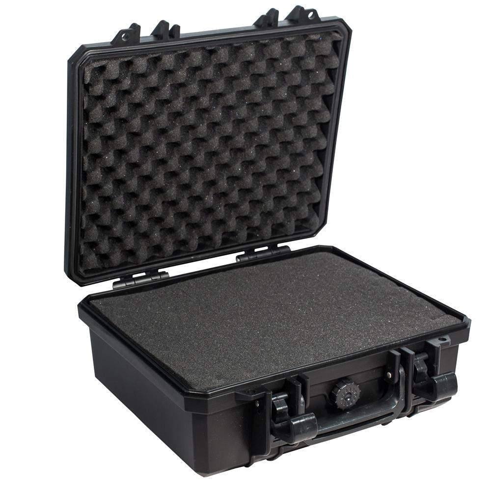 Кейс противоударный PRO-4x4 №2, влагозащищенный, 33 х 31 х 14,8 см, цвет: черныйДива 007Кейс №2 с поропластом очень удобен для перевозки зеркальных фотоаппаратов, дорогих объективов, полупрофессиональных видеокамер. С помощью просеченной пены.Вы сделаете для себя необходимые отсеки.Защищенные кейсы - это надежный и проверенный способ сохранить в целостности дорогостоящее оборудование, требующее бережной транспортировки и гарантированной сохранности.