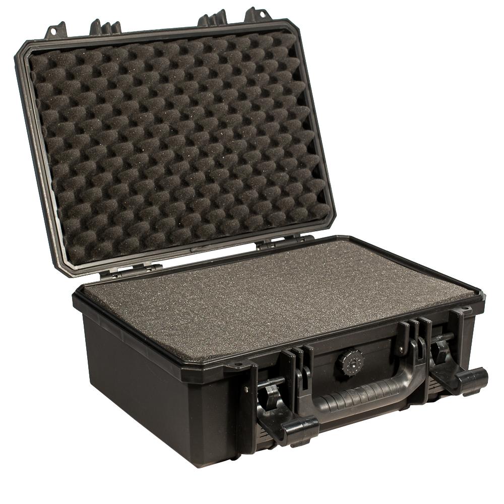 Кейс противоударный PRO-4x4 №3, влагозащищенный, 40 х 32 х 18 см, цвет: черныйSATURN CANCARDВ кейсе №3 с поропластом возможно хранить и перевозить портативные радиостанции, планшеты, сканеры и ТСД. Просеченный наполнитель поможет обезопасить Вашу технику.Защищенные кейсы- это надежный и проверенный способ сохранить в целостности дорогостоящее оборудование, требующее бережной транспортировки и гарантированной сохранности.