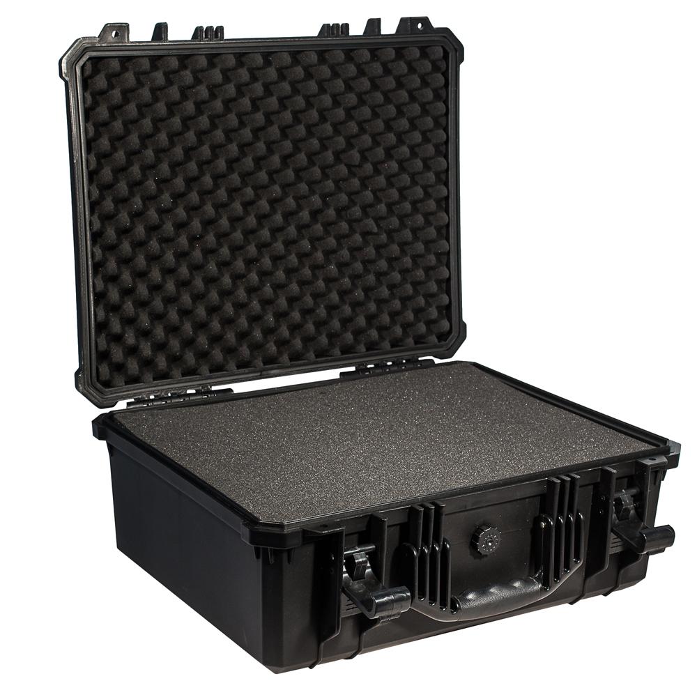 Кейс противоударный PRO-4x4 №5, влагозащищенный, 50,8 х 39,4 х 20,5 см, цвет: черныйCLP446Коллекционерам и археологам. Медицинским работникам и энергетикам.Для Ваших приборов, диагностического оборудования, точных измерительных приборов, коллекций ножей или часов, больших объективов и небольших экранов, экспонатов для выставок и радиомоделей- все это кейс №5 Защищенные кейсы - это надежный и проверенный способ сохранить в целостности дорогостоящее оборудование, требующее бережной транспортировки и гарантированной сохранности.