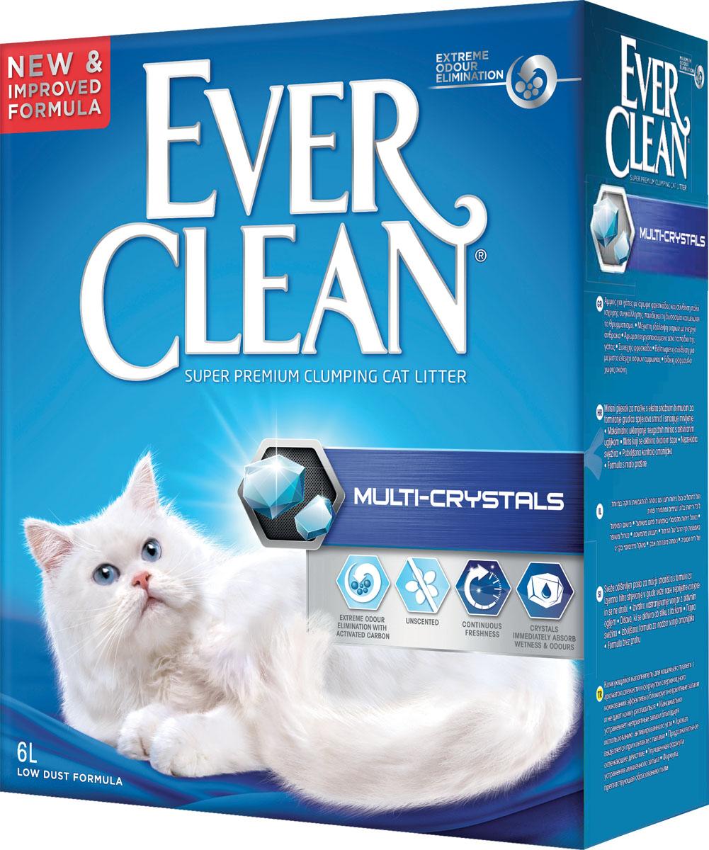Наполнитель для кошачьего туалета Ever Clean Multi-Crystals, комкующийся, с кристаллами, 6 л410068Наполнитель Ever Clean Multi-Crystals - это элитная серия высококачественных комкующихся наполнителей с уникальными свойствами. Наполнитель состоит из специально обработанной и очищенной от пыли глины. Содержит синие и зеленые кристаллы, совместно воздействующие на неприятные запахи и немедленно блокирующие их, что обеспечивает максимальный контроль над запахом. Гранулы наполнителя обладают уникальными впитывающими свойствами и содержат активный компонент, который уничтожает запах, связанный с развитием микробов. В ядро каждой гранулы помещен специальным образом обработанный активированный уголь для максимального контроля запахов. Гранулы наполнителя не только отлично впитывают, но и образуют крепкие трудноразбиваемые комки. Состав: глина, активированный уголь. Без ароматизаторов.Вес: 6 кг.Товар сертифицирован.