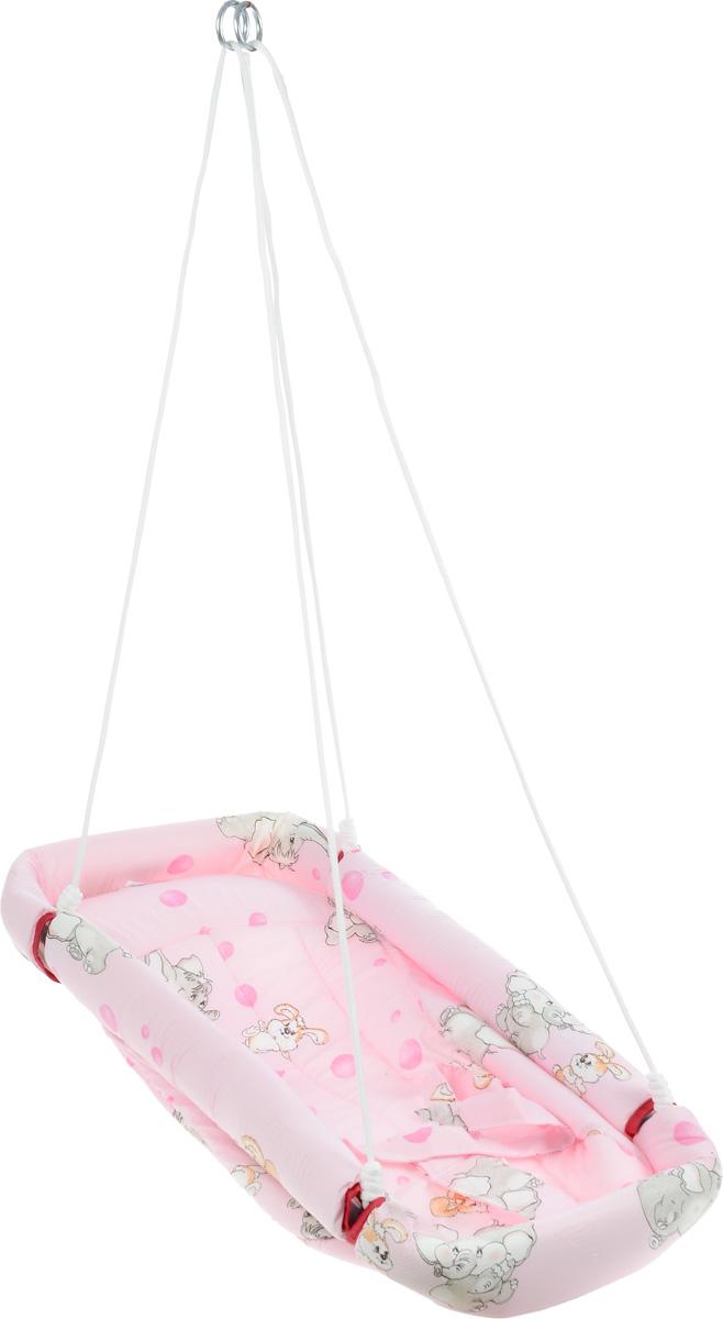 """Качели-гамак Фея """"Комфорт"""" - это небольшое уютное местечко для малыша. Аналог люльки, применявшейся в деревнях. Гамак выполнен из 100% хлопчатобумажной ткани. Имеет мягкое сиденье и оснащен ремнями безопасности. Бортики гамака защищены мягким наполнителем. Гамак подвешивается с помощью небольших тросов на металлические кольца. Его можно легко сложить, при хранении не занимает много места."""