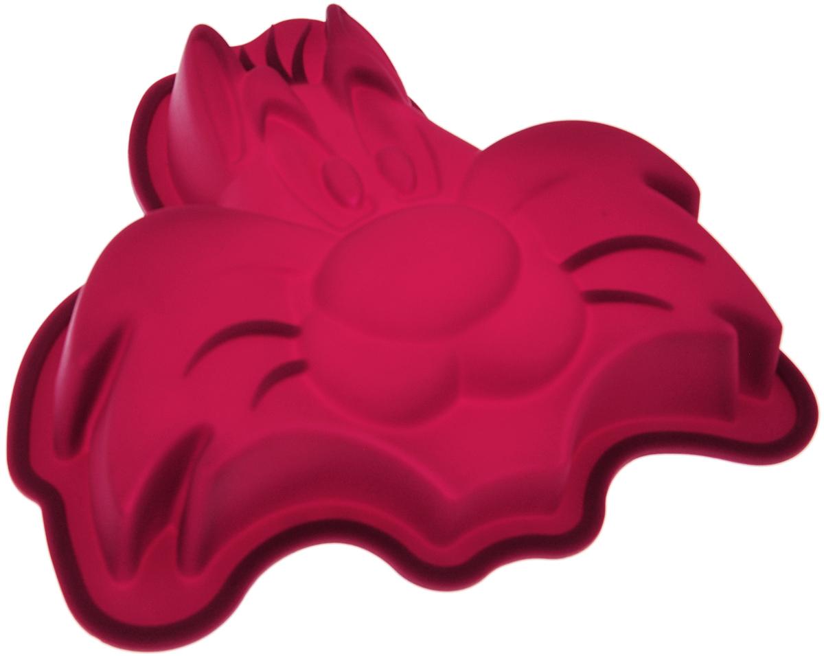 Форма для выпечки Hausmann Cat, силиконовая, цвет: бордовый, 16,5 х 15,5 х 3,2 см391602Форма для выпечки Hausmann Cat изготовлена из высококачественного силикона. Стенки формы легко гнутся, что позволяет легко достать готовую выпечку и сохранить аккуратный внешний вид блюда.Силикон - материал, который выдерживает температуру от -40°С до +230°С. Изделия из силикона очень удобны в использовании: пища в них не пригорает и не прилипает к стенкам, форма легко моется. Приготовленное блюдо можно с легкостью вытащить, просто перевернув форму, при этом внешний вид блюда не нарушится. Изделие обладает эластичными свойствами: складывается без изломов, восстанавливает свою первоначальную форму. Порадуйте своих родных и близких любимой выпечкой в необычном исполнении. Подходит для приготовления в микроволновой печи и духовом шкафу при нагревании до +230°С; для замораживания до -40°.Можно мыть в посудомоечной машине с применением нейтральных моющих средств.