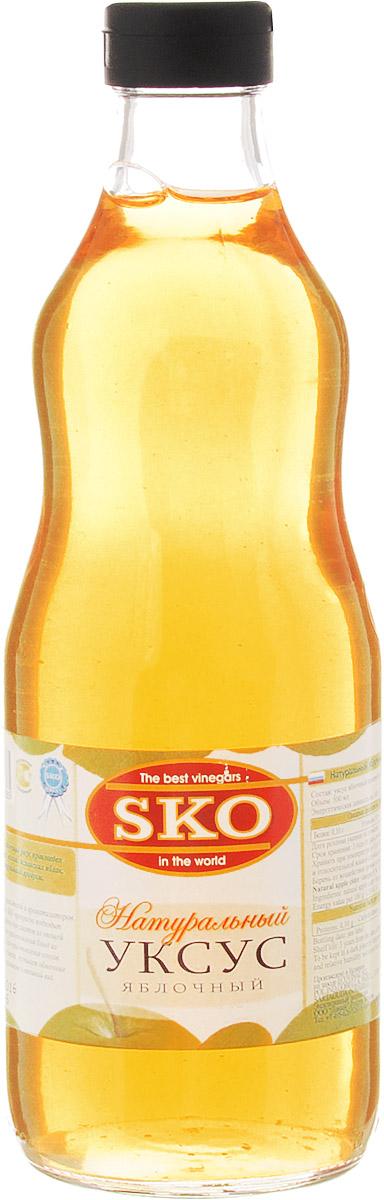 SKO уксус натуральный яблочный, 500 мл13009Натуральный яблочный уксус произведен из натуральных зеленых испанских яблок. 100% натуральный продукт.Без искусственных красителей и ароматизаторов. Яблочный уксус SKO прекрасно подходит в качестве заправки для салатов из овощей и фруктов, для приготовления блюд из мяса и птицы, для приготовления соусов. Обогащает вкус блюда, улучшает обменные процессы в организме и внешний вид.